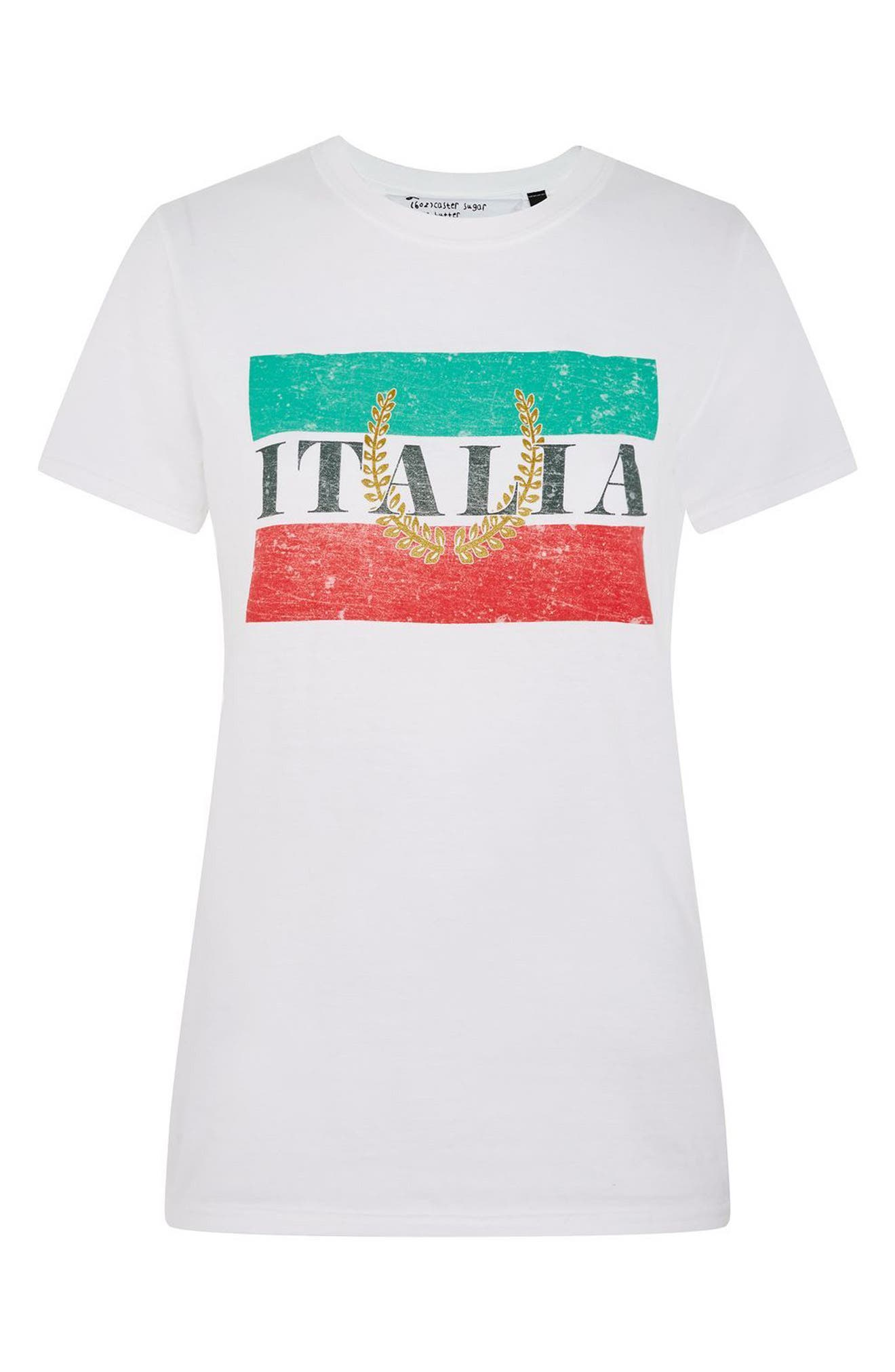 by Tee & Cake Italia Graphic Tee,                             Alternate thumbnail 4, color,                             White Multi