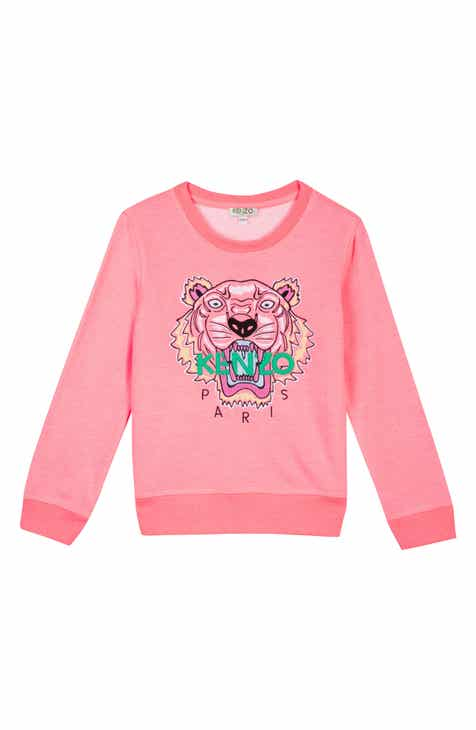 702a7f4b KENZO Embroidered Tiger Logo Sweatshirt (Toddler Girls, Little Girls & Big  Girls)