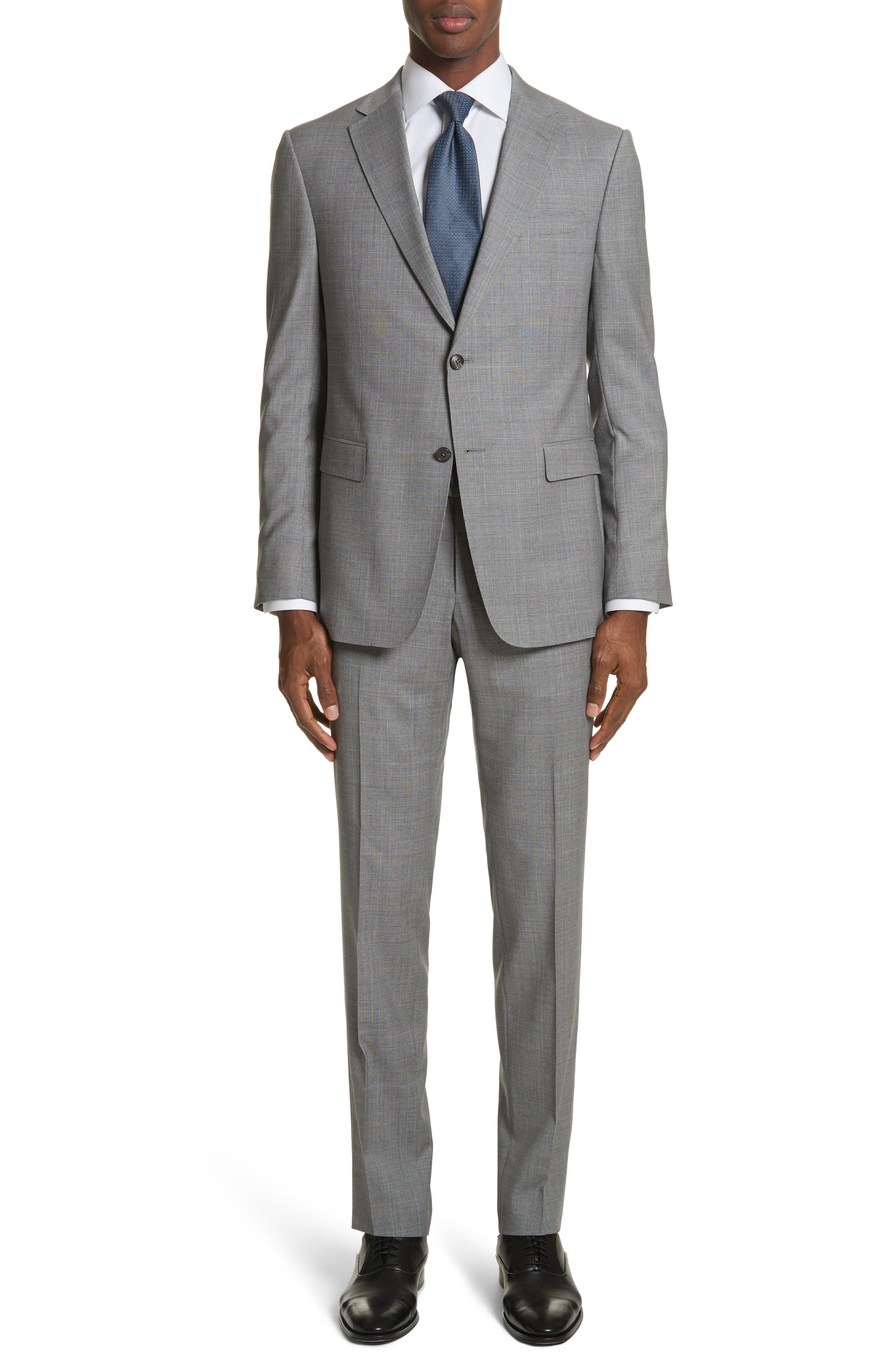 Z Zegna Classic Fit Plaid Wool Suit