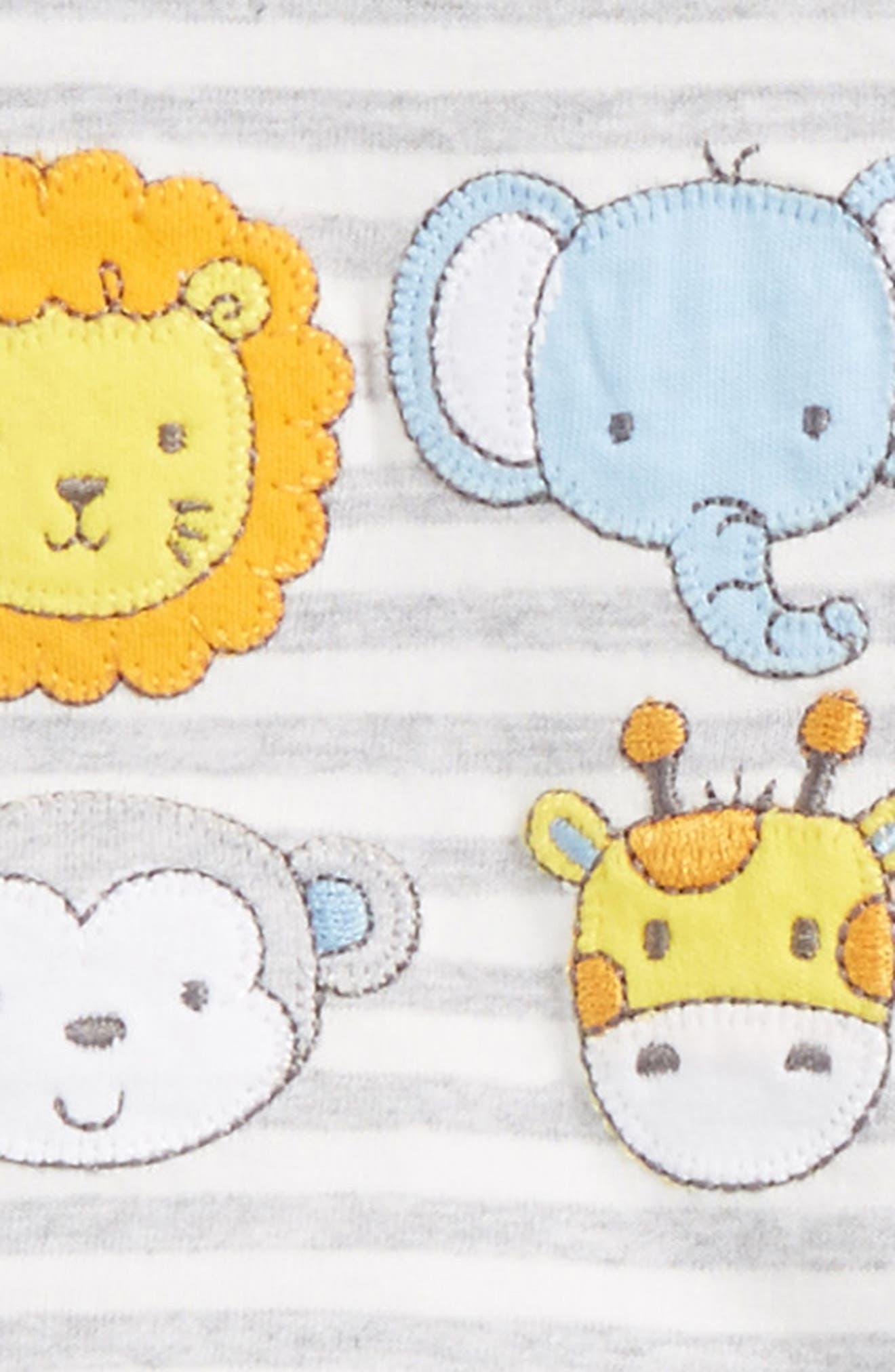 Alternate Image 2  - Little Me Safari Pals T-Shirt, Jogger Pants & Socks Set (Baby)