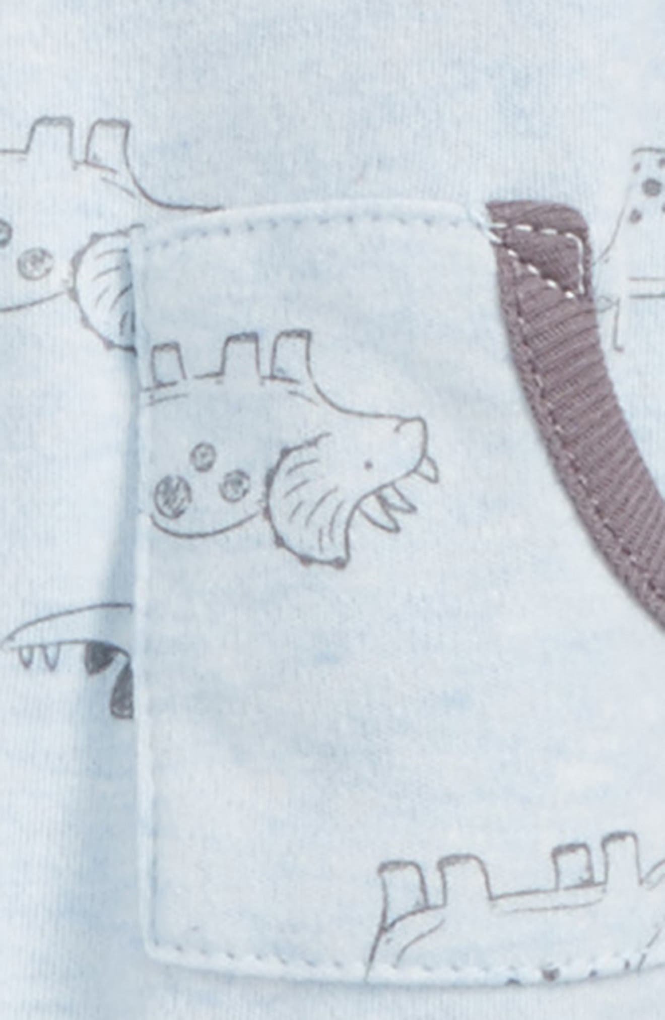 Alternate Image 2  - Little Me Dino Jacket, Jogger Pants & Hat Set (Baby Boys)