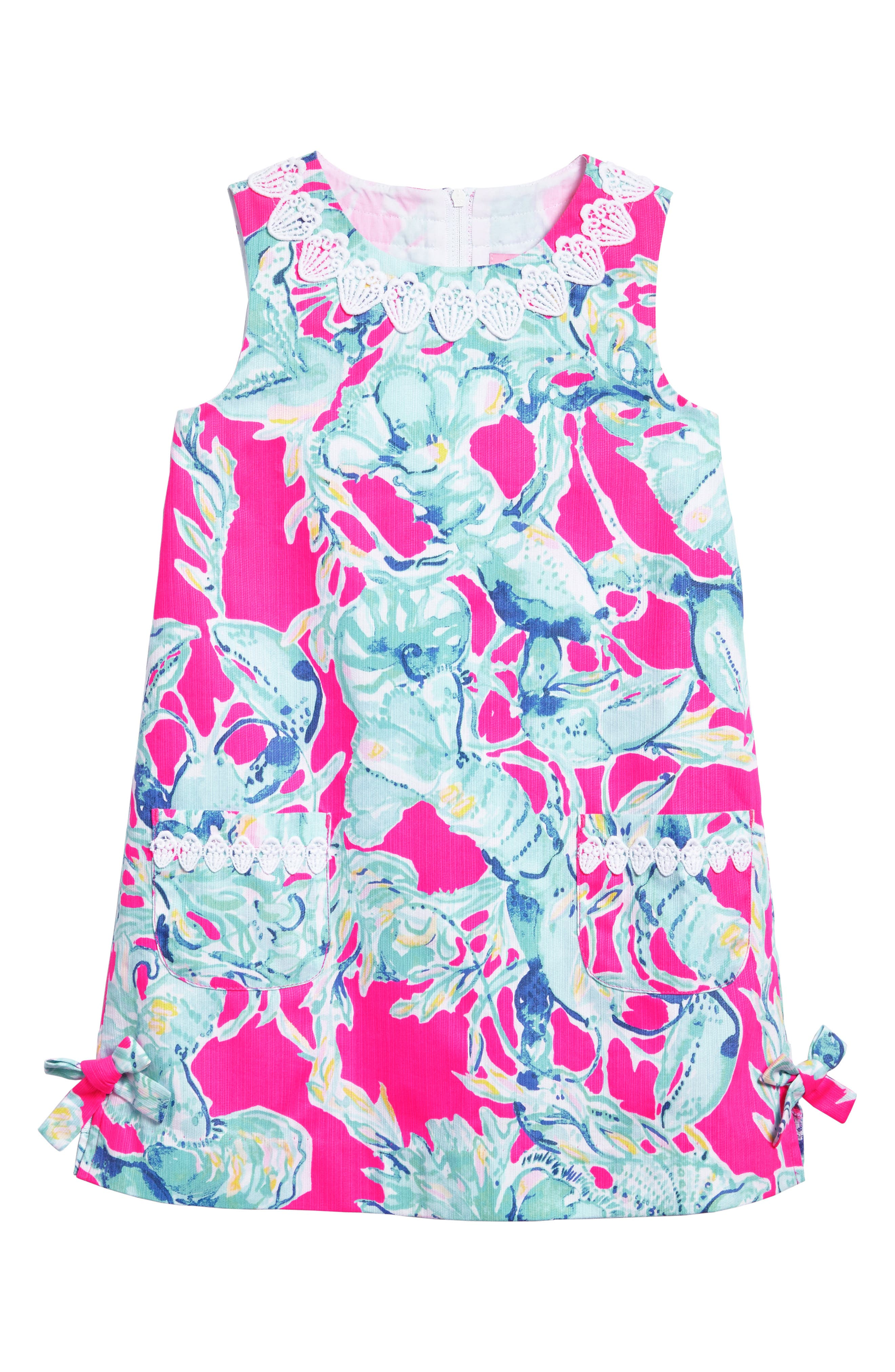 Little Lilly Shift Dress,                             Main thumbnail 1, color,                             Raz Berry Lobsters In Love