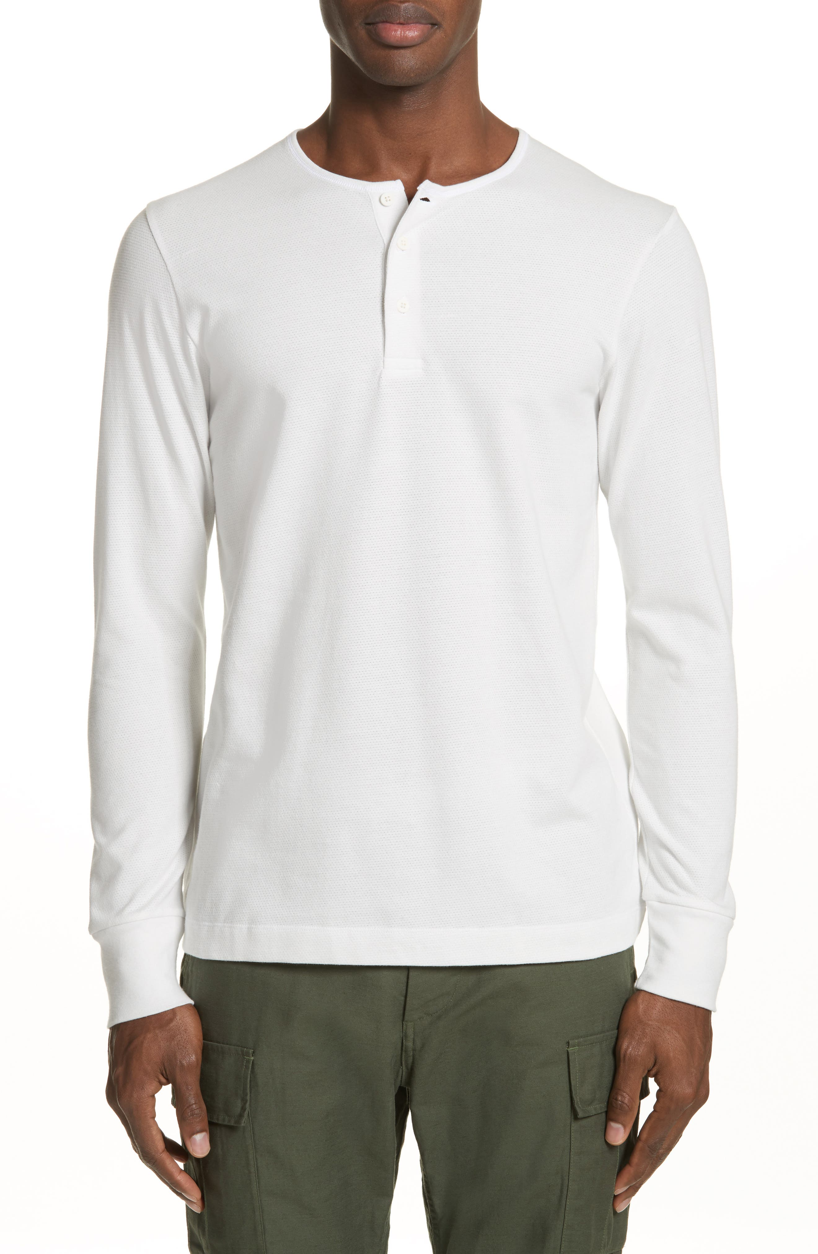 Mesh Jersey Henley,                             Main thumbnail 1, color,                             Salt