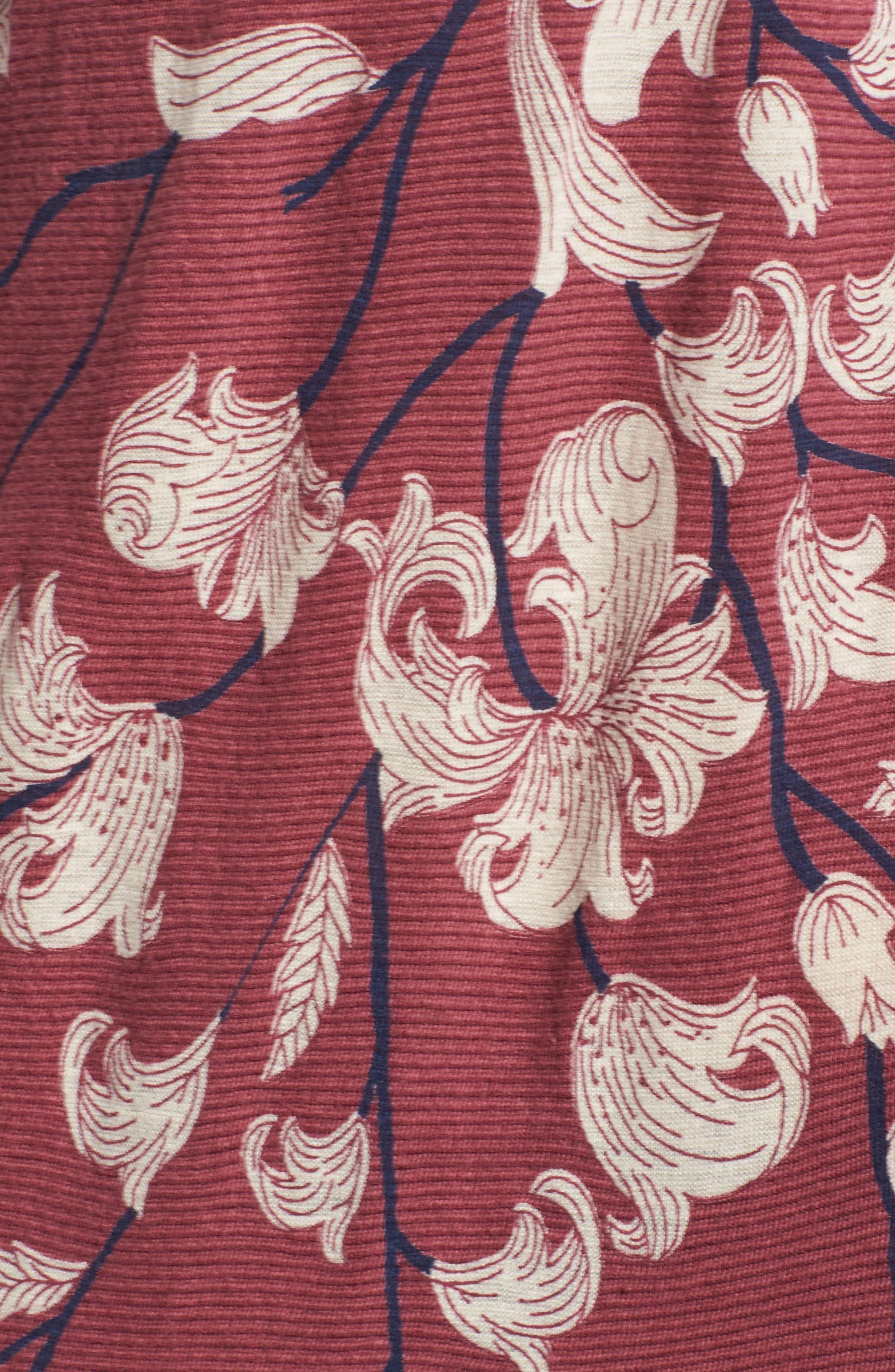 Lace Inset Print Top,                             Alternate thumbnail 5, color,                             Blush Multi