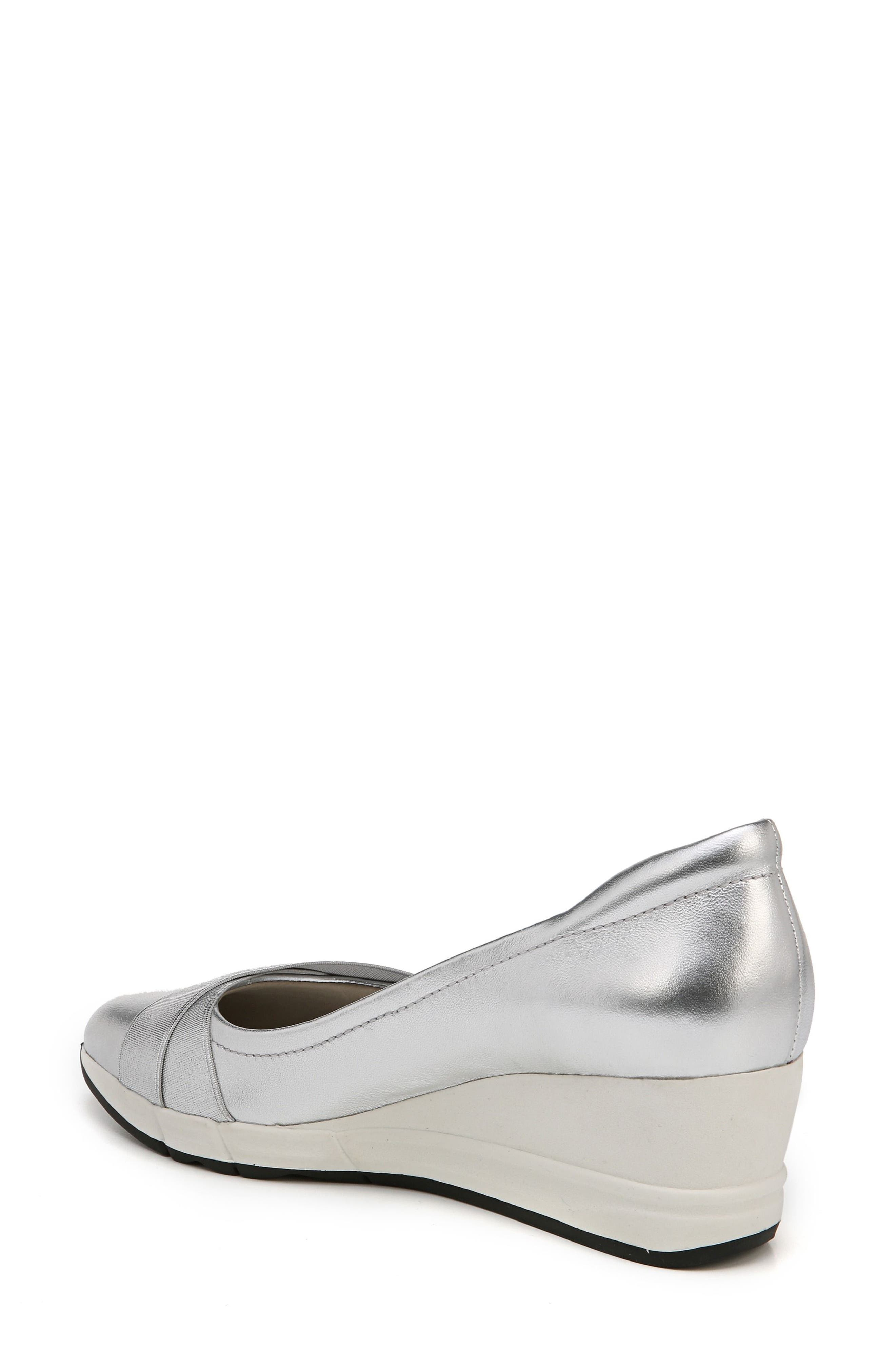 Harlyn Wedge Pump,                             Alternate thumbnail 2, color,                             Silver Leather