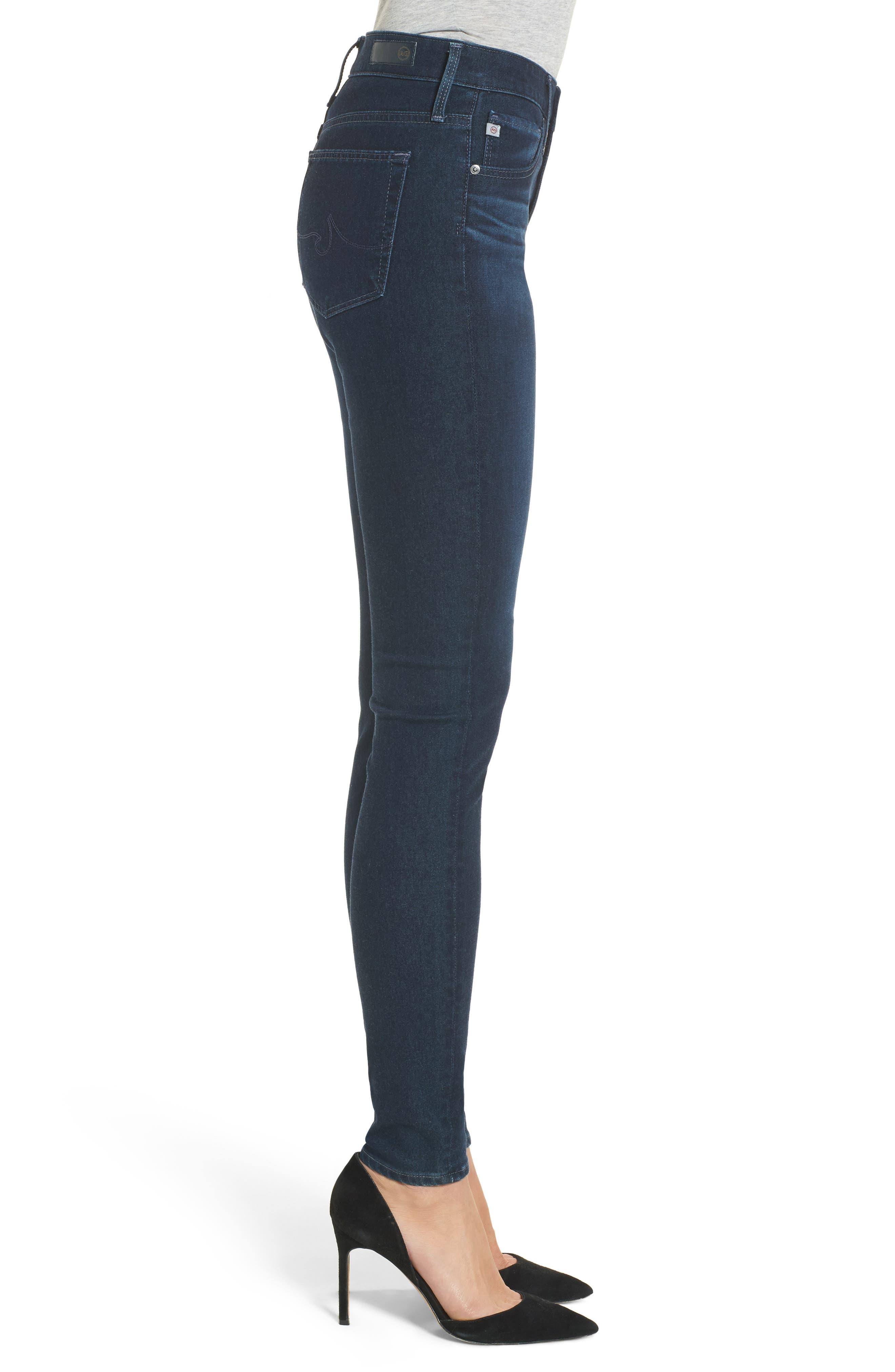 Alternate Image 3  - AG The Farrah High Waist Skinny Jeans