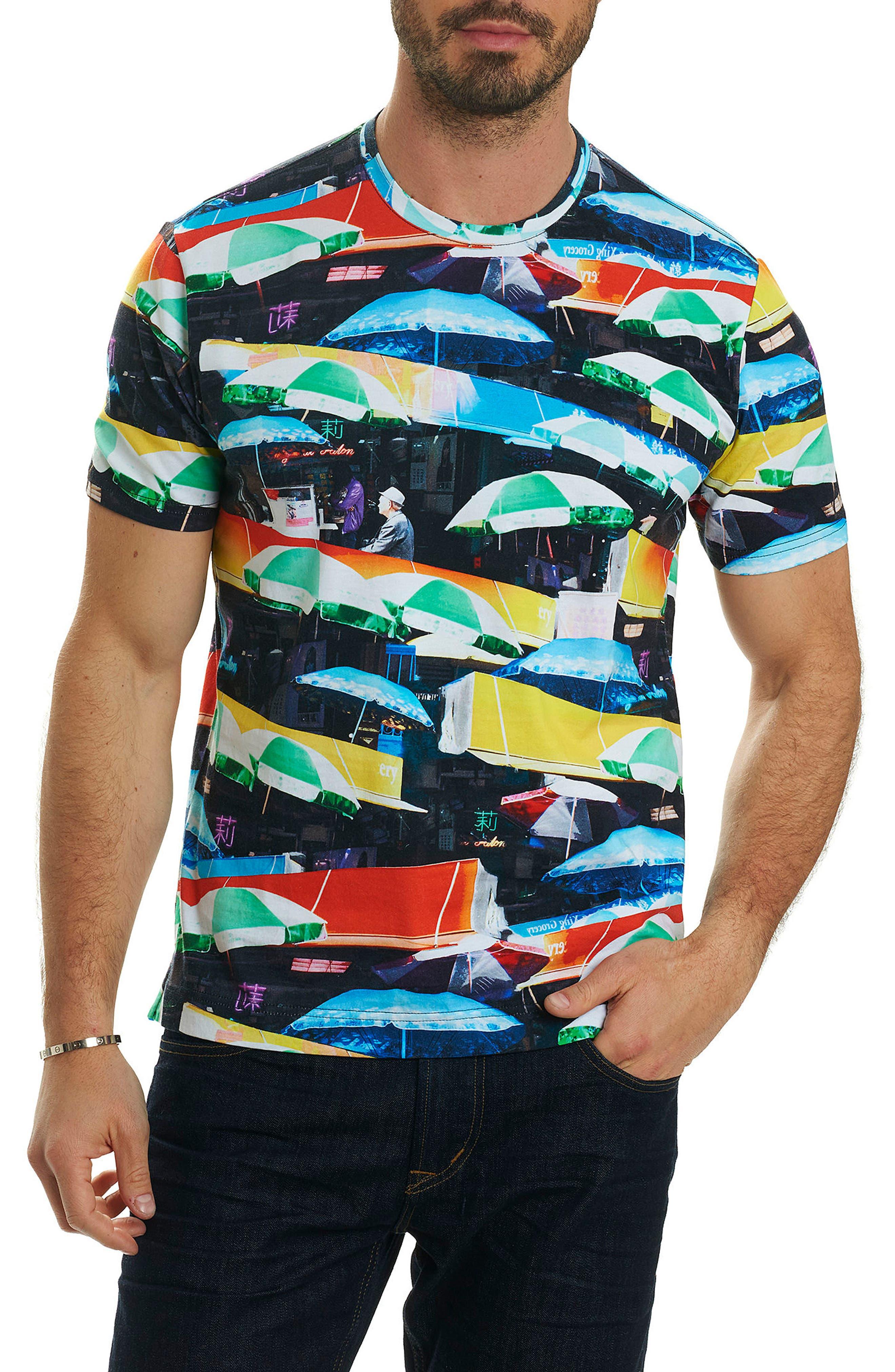 Umbrella Print T-Shirt,                             Main thumbnail 1, color,                             Red