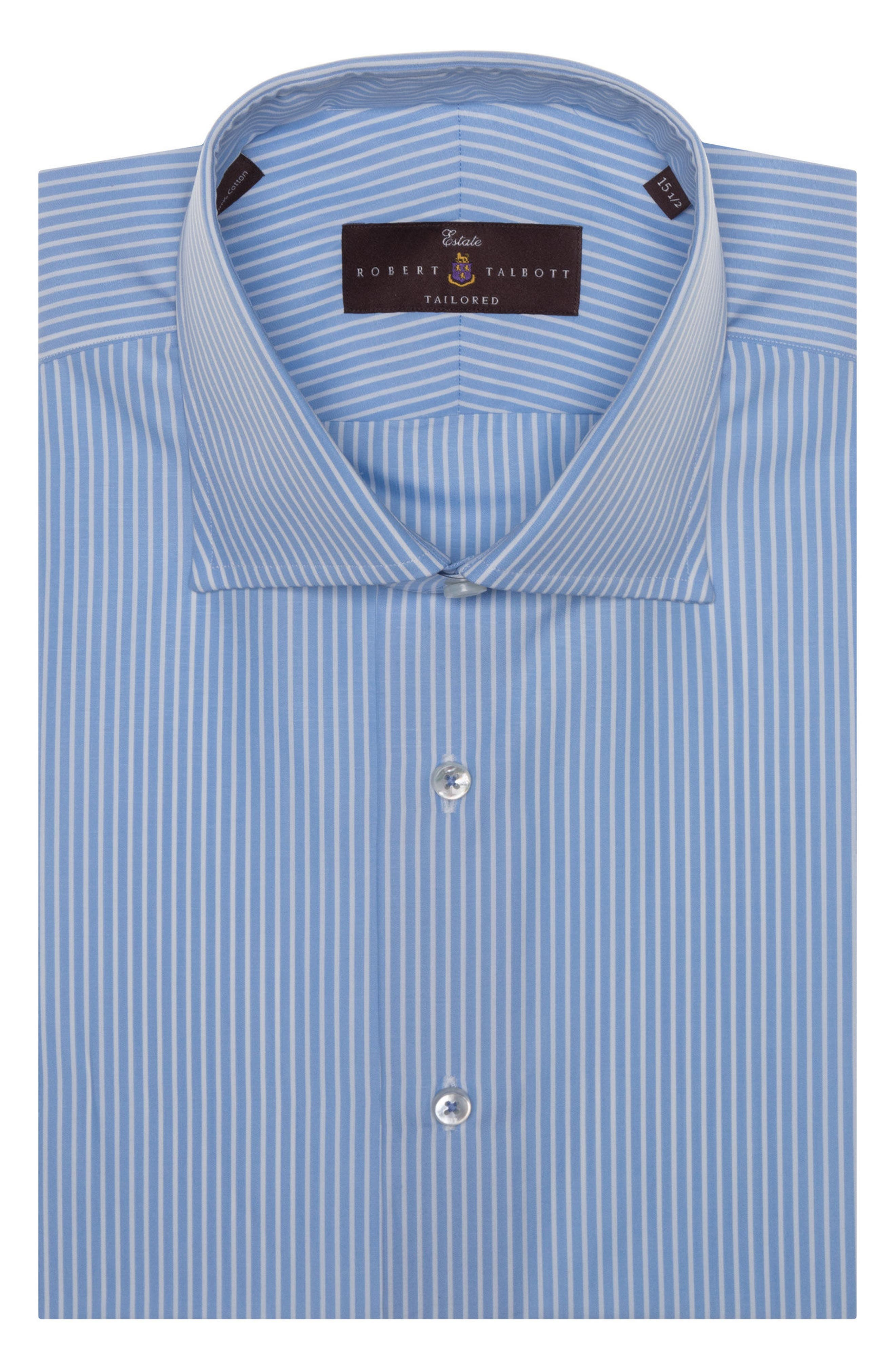 Tailored Fit Stripe Dress Shirt,                         Main,                         color, Haze