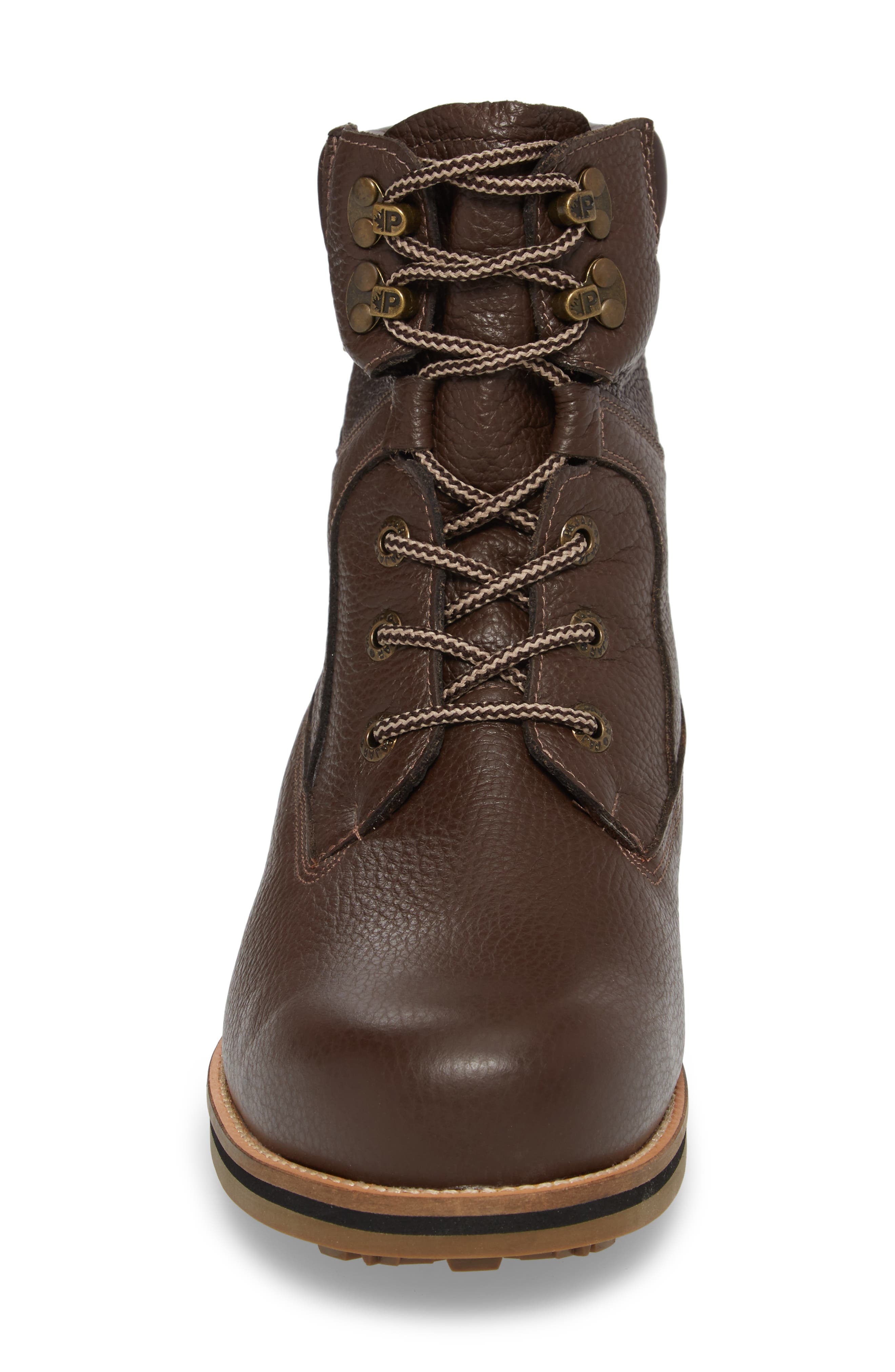 David Plain Toe Boot,                             Alternate thumbnail 4, color,                             Chocolate Leather