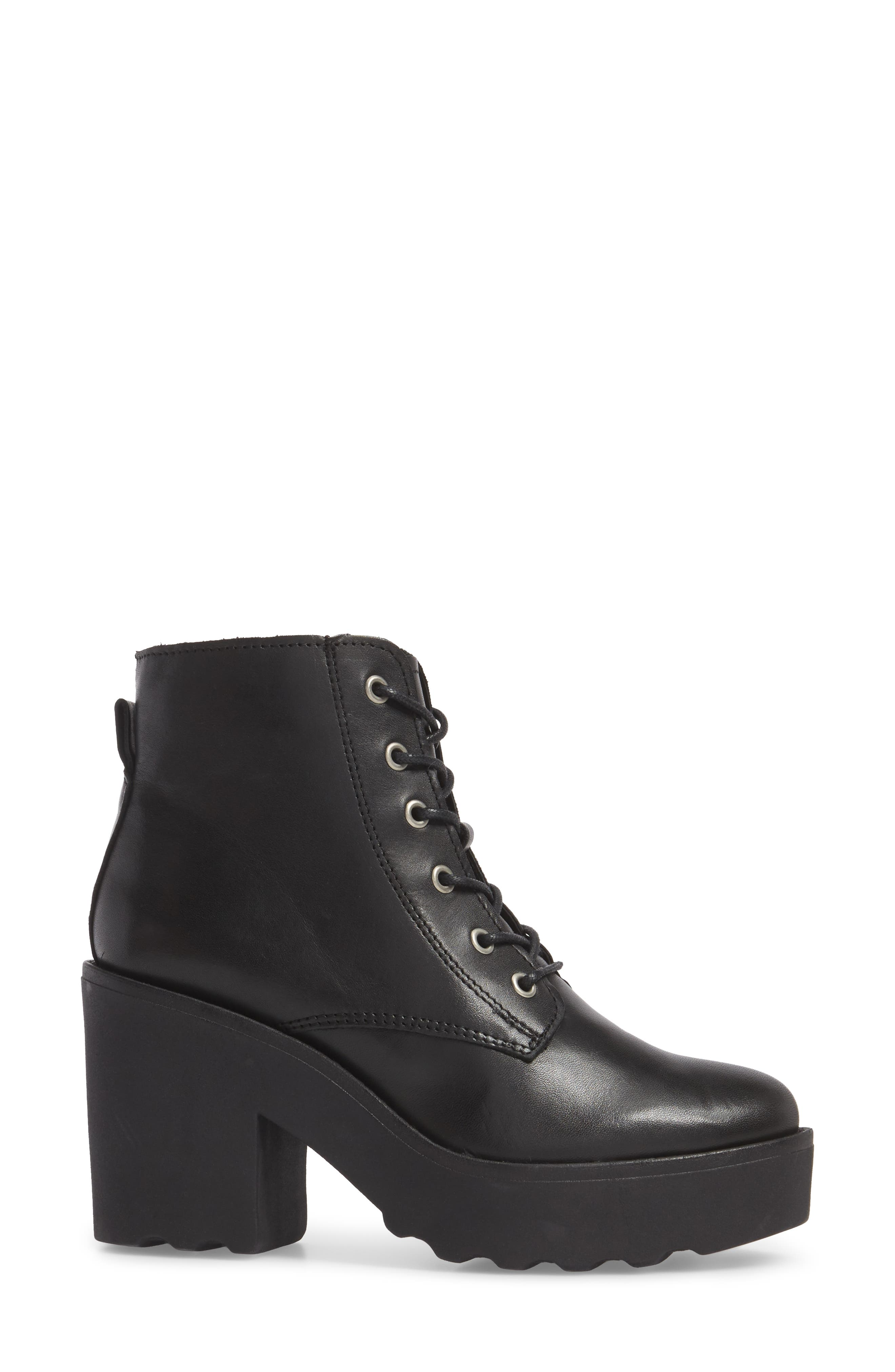 Gusto Boot,                             Alternate thumbnail 3, color,                             Black Leather