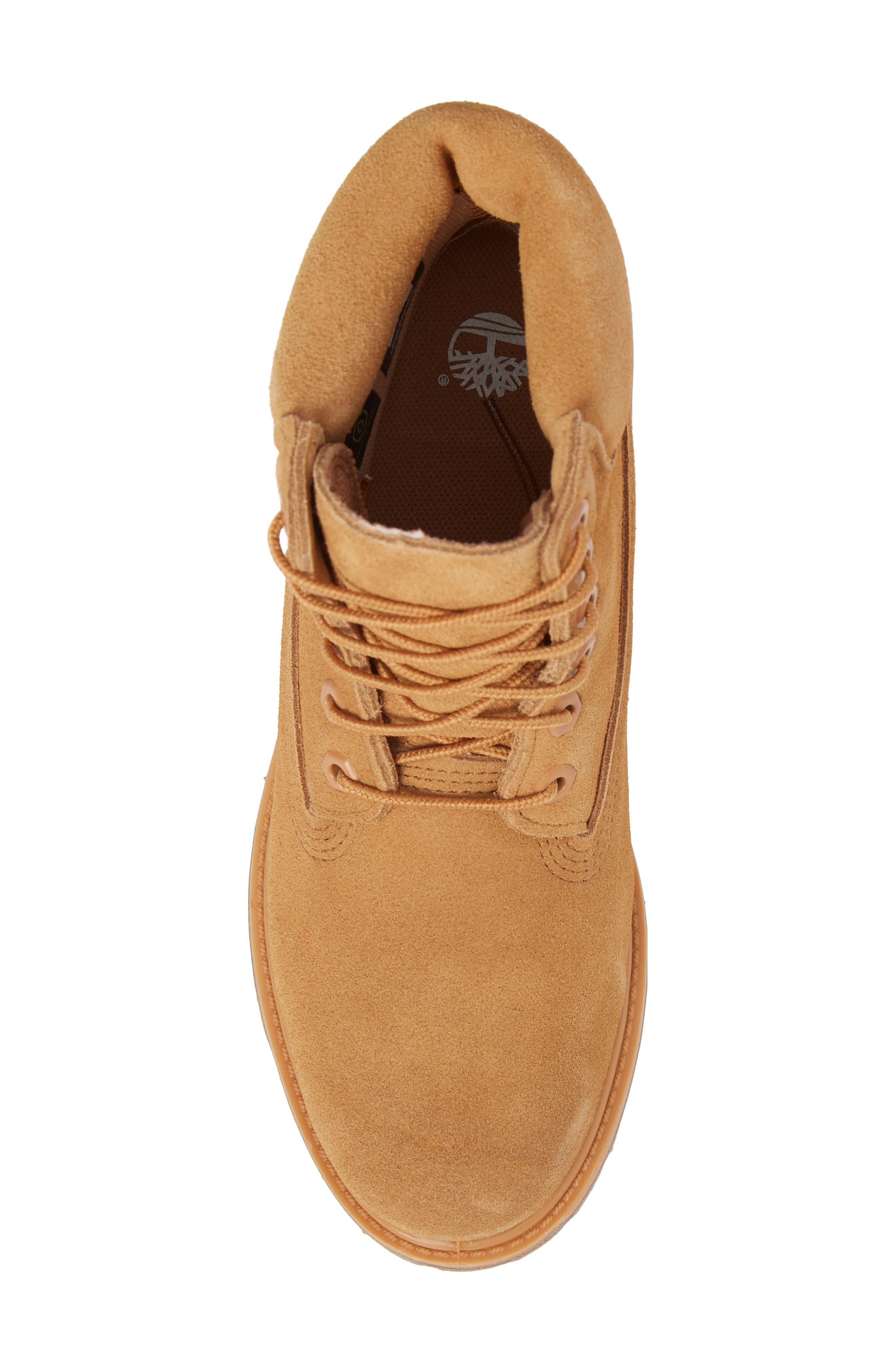 6 Inch Boot,                             Alternate thumbnail 5, color,                             Biscuit Nubuck Leather