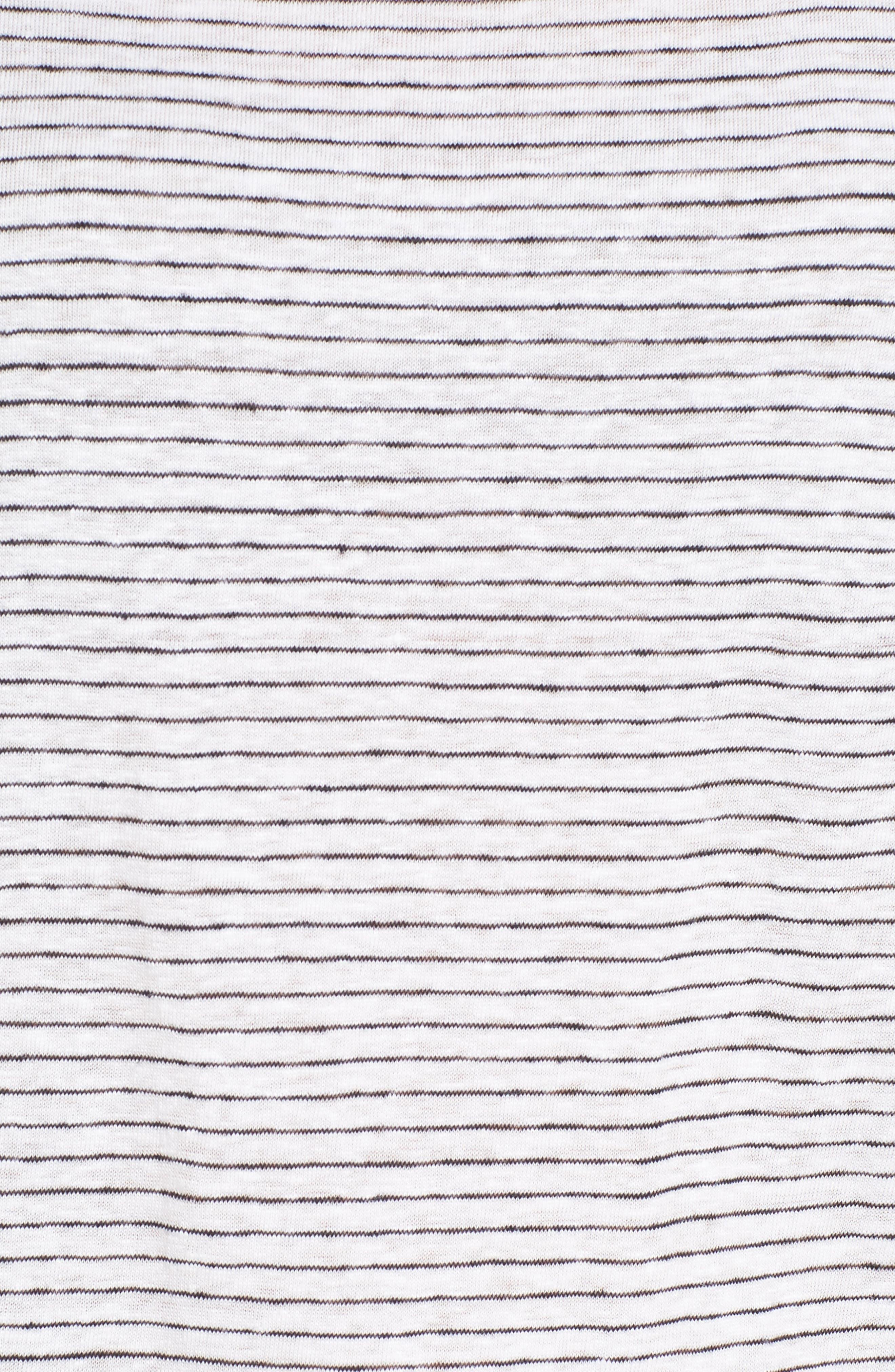 Organic Linen Tee,                             Alternate thumbnail 6, color,                             White/ Black