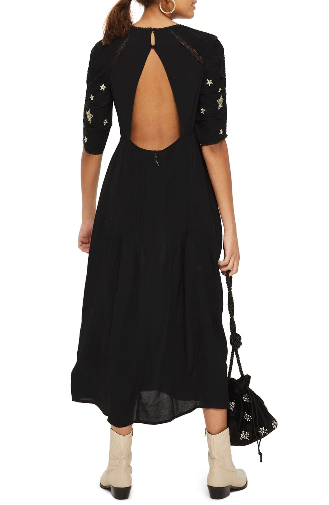 Alternate Image 2  - Topshop Star Embroidered Midi Dress