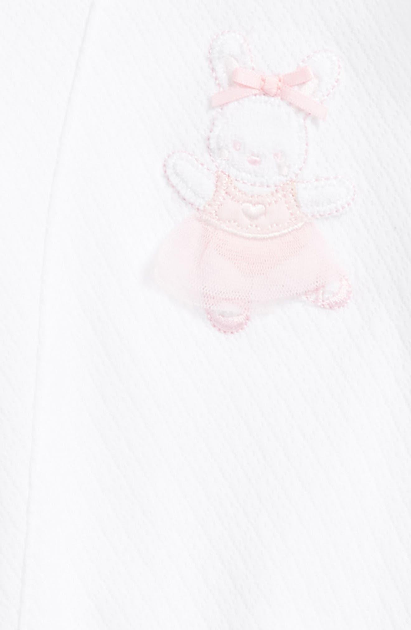Ballet Bunny Footie & Beanie Set,                             Alternate thumbnail 2, color,                             White