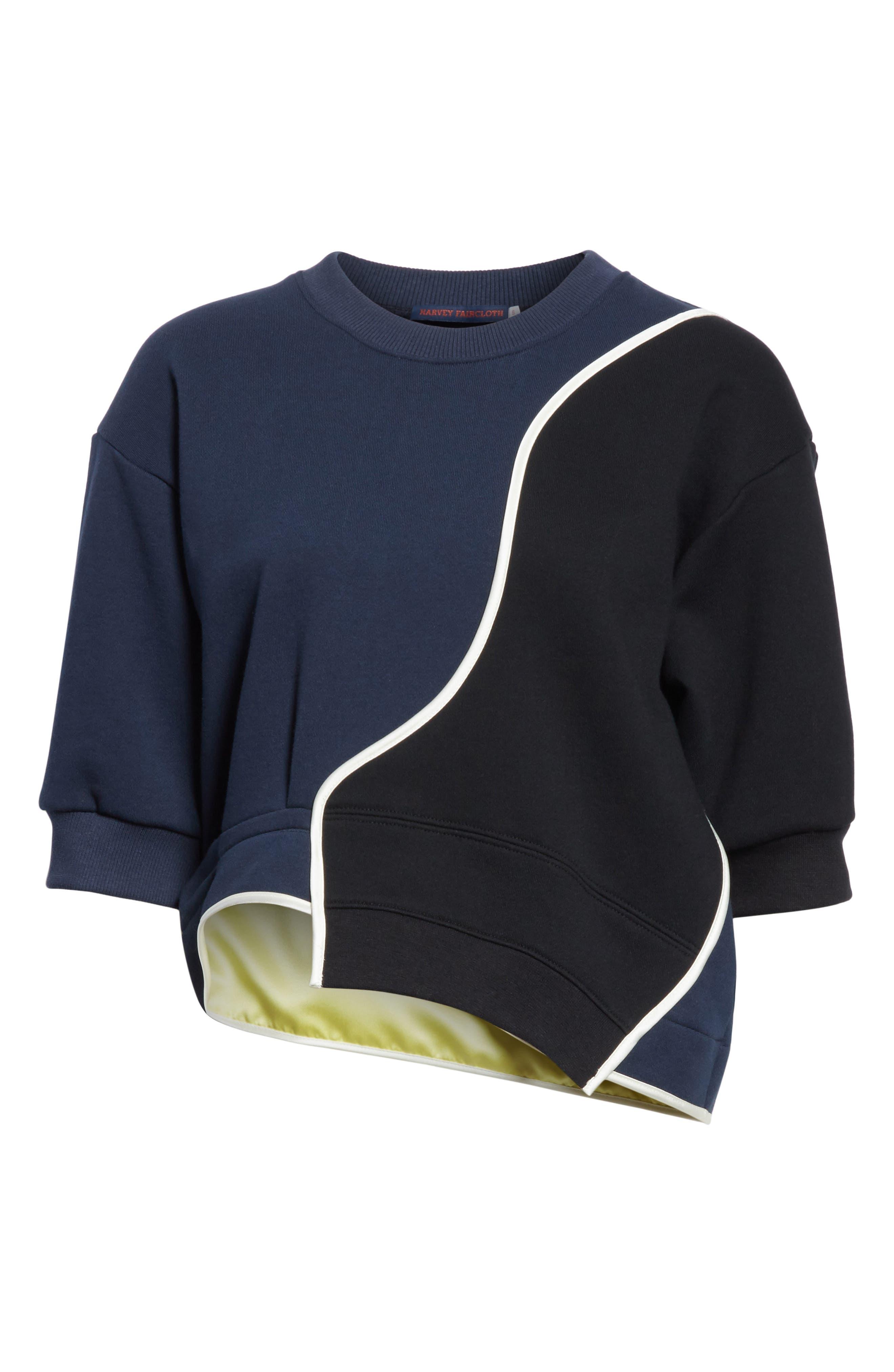 Roberto 03 Colorblock Sweatshirt,                             Alternate thumbnail 6, color,                             Navy