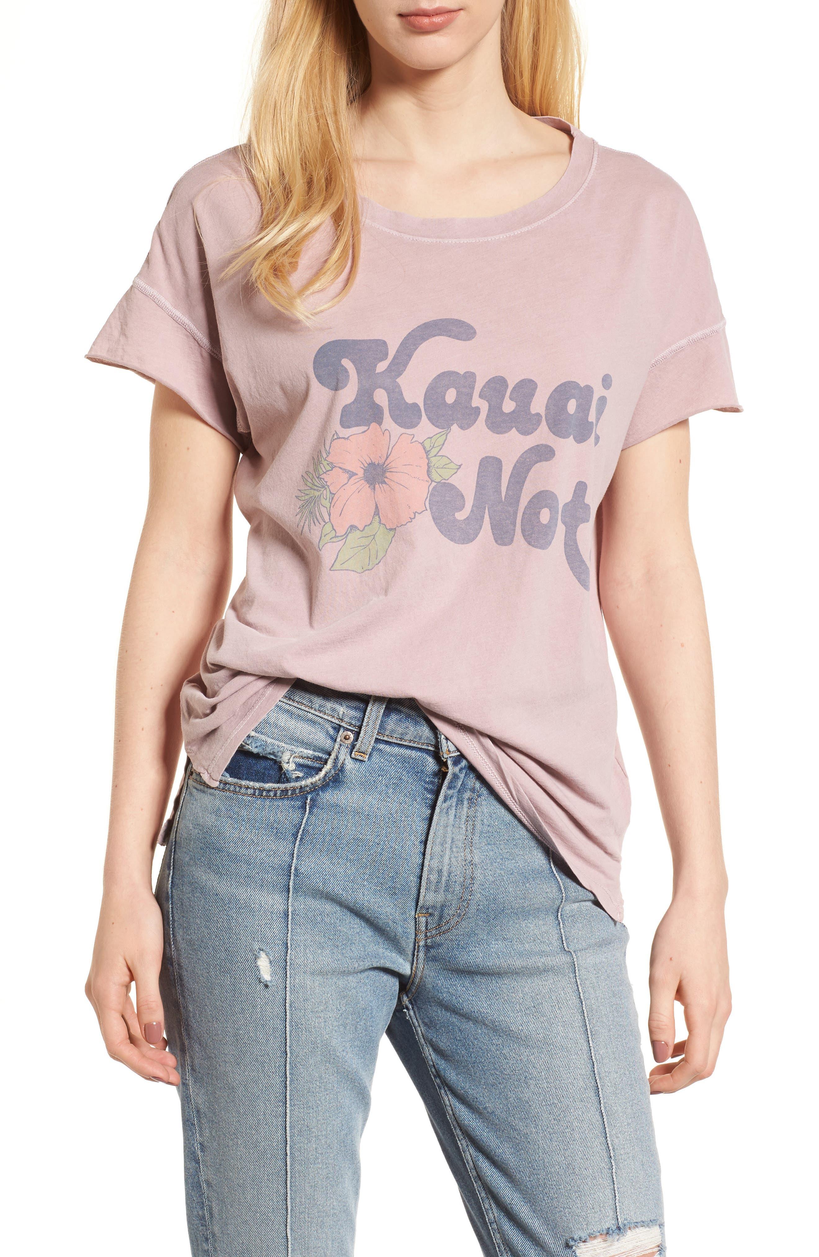 Kauai Not Tee,                         Main,                         color, Silk
