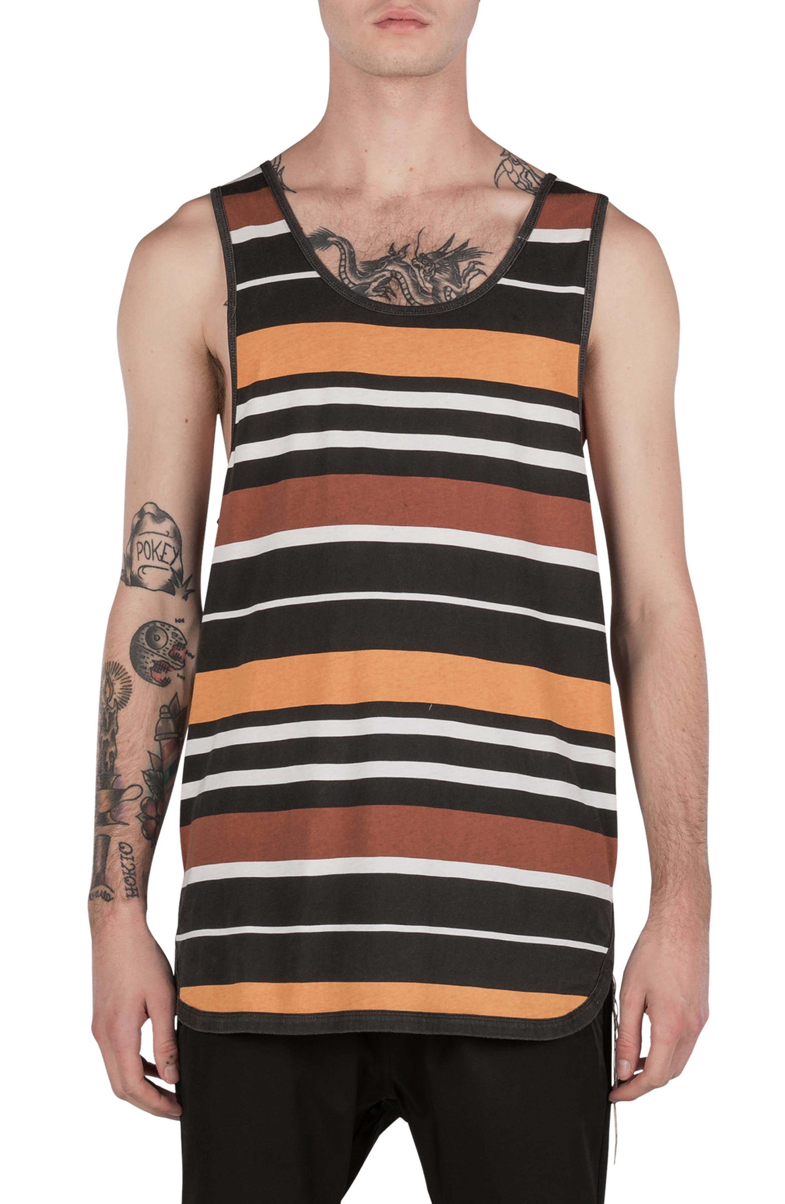 Rugby Stripe Rugger Tank,                         Main,                         color, Multi