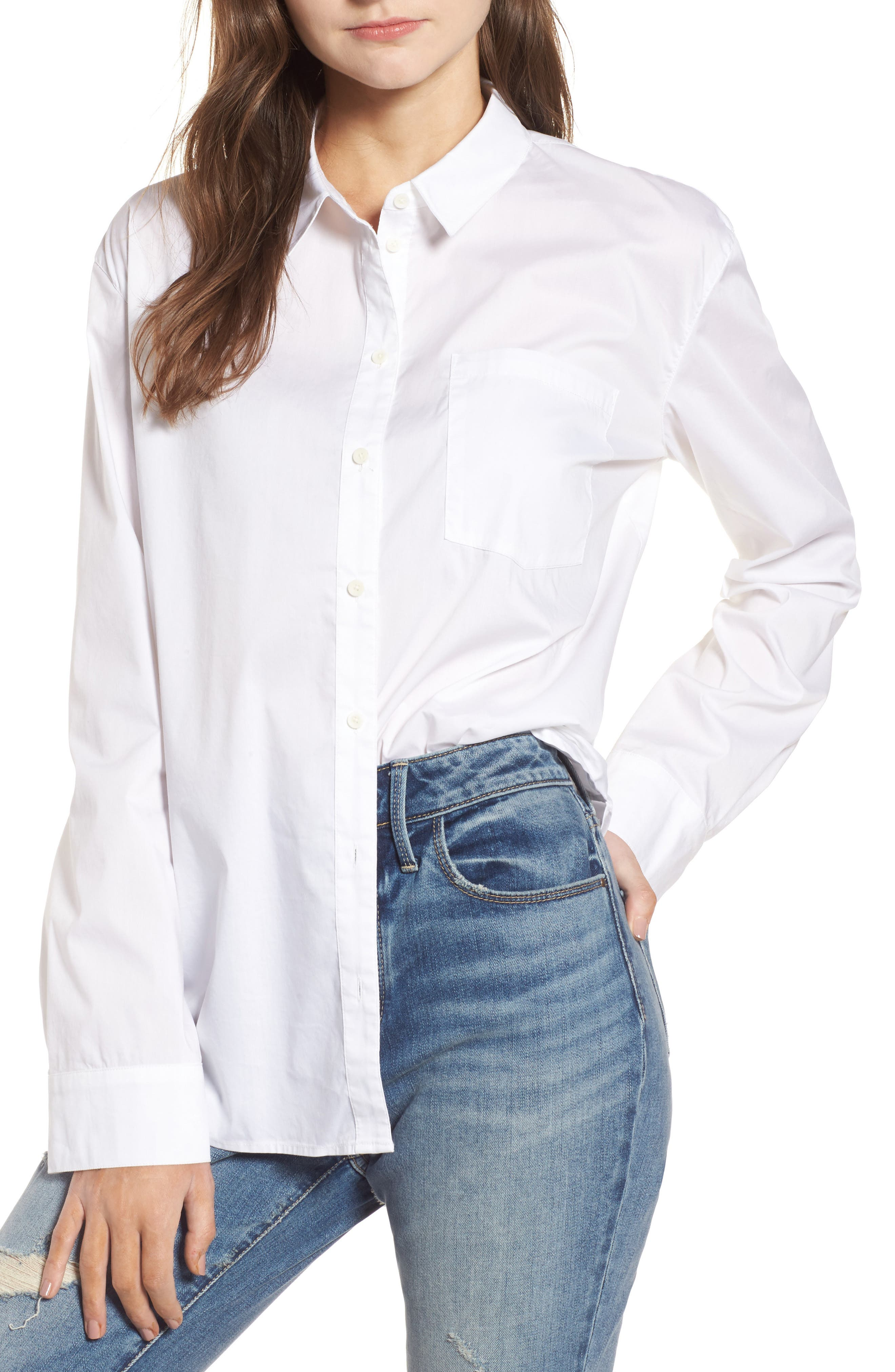 Oversize Shirt,                         Main,                         color, White