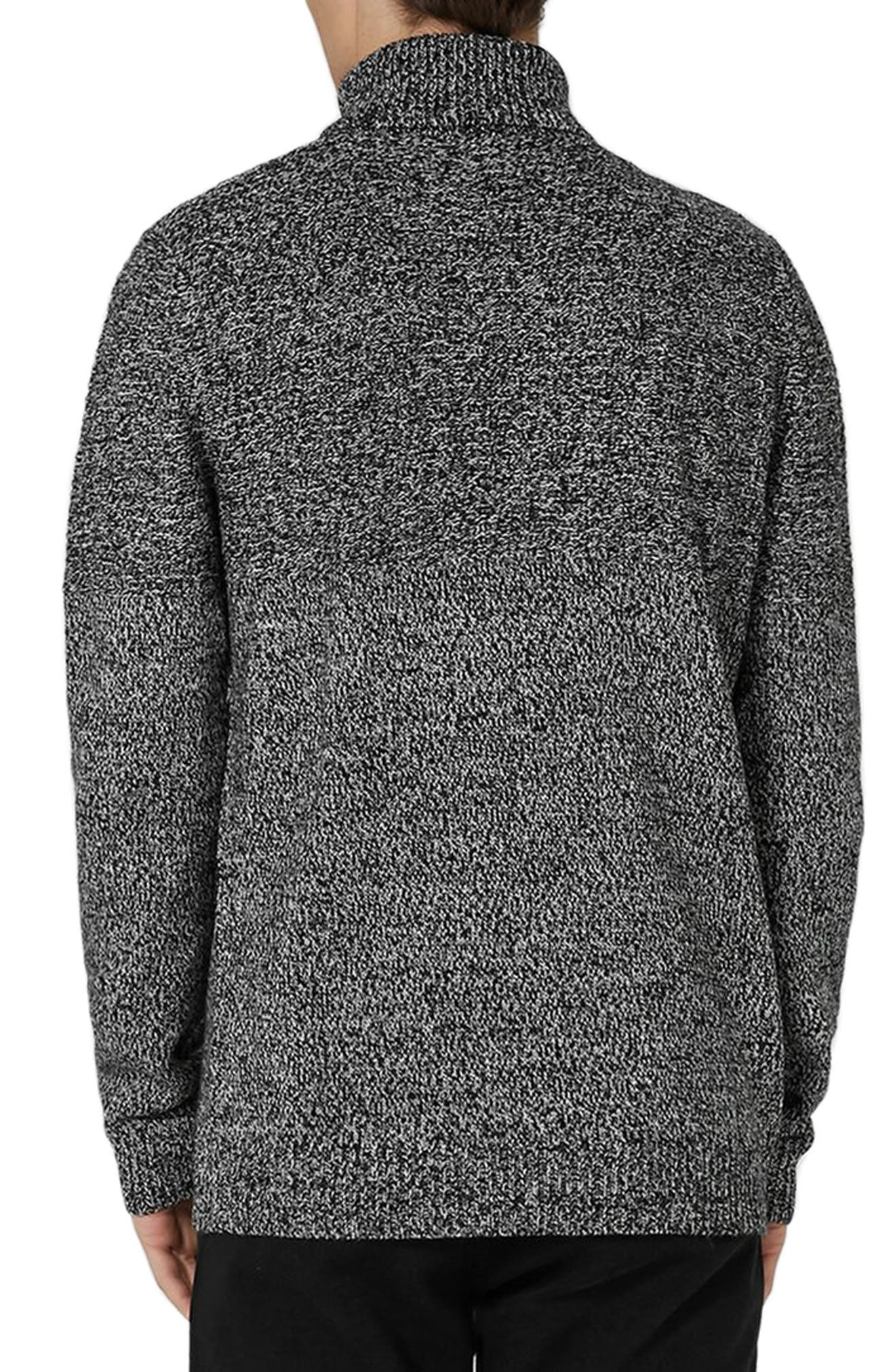 Alternate Image 2  - Topman Twist Roll Neck Sweater