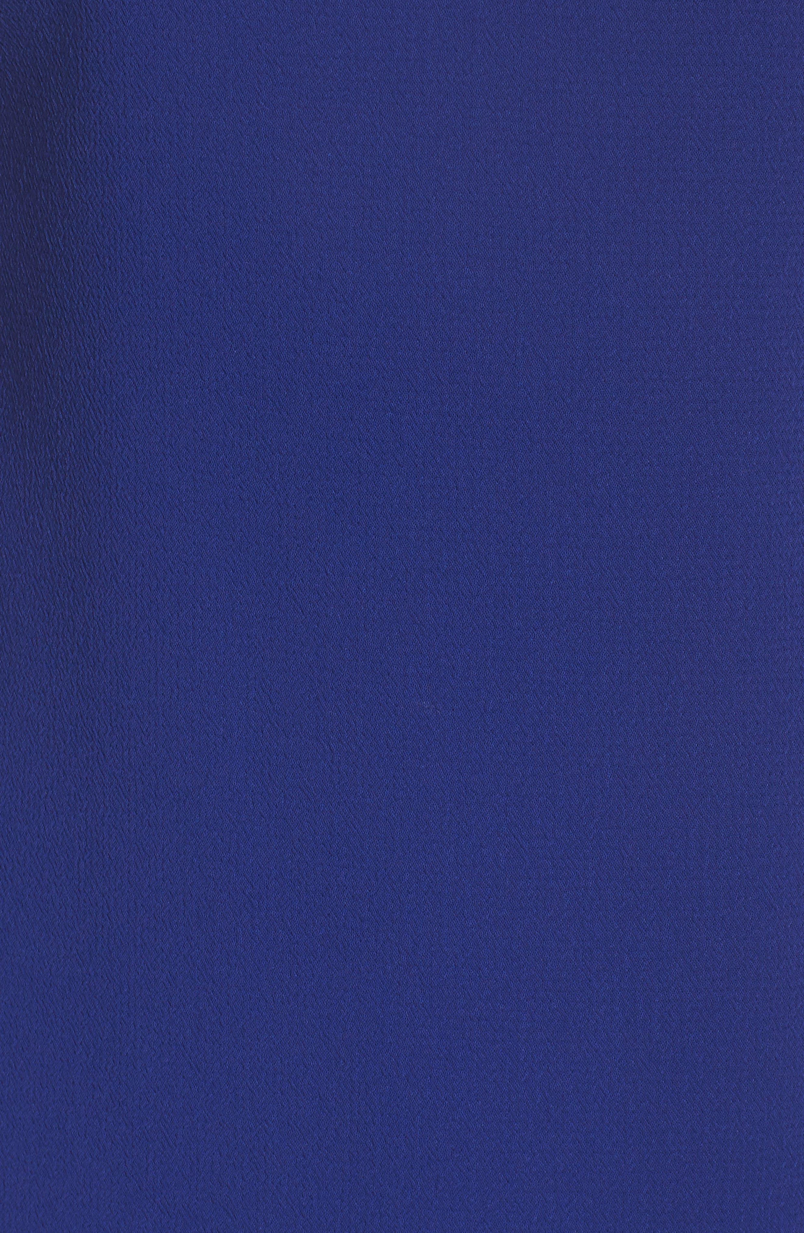 Bow Sheath Dress,                             Alternate thumbnail 5, color,                             Cobalt