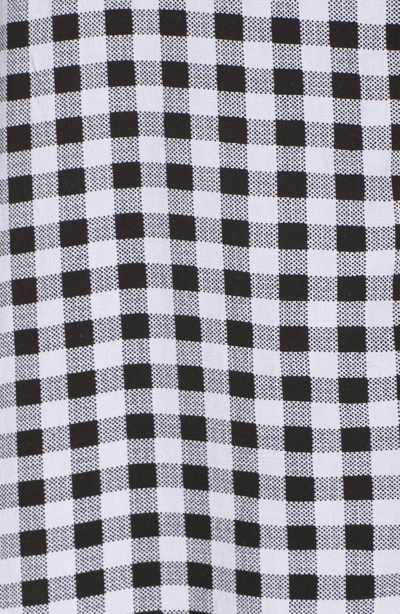 Gingham Sleep Shirt,                             Alternate thumbnail 6, color,                             Black
