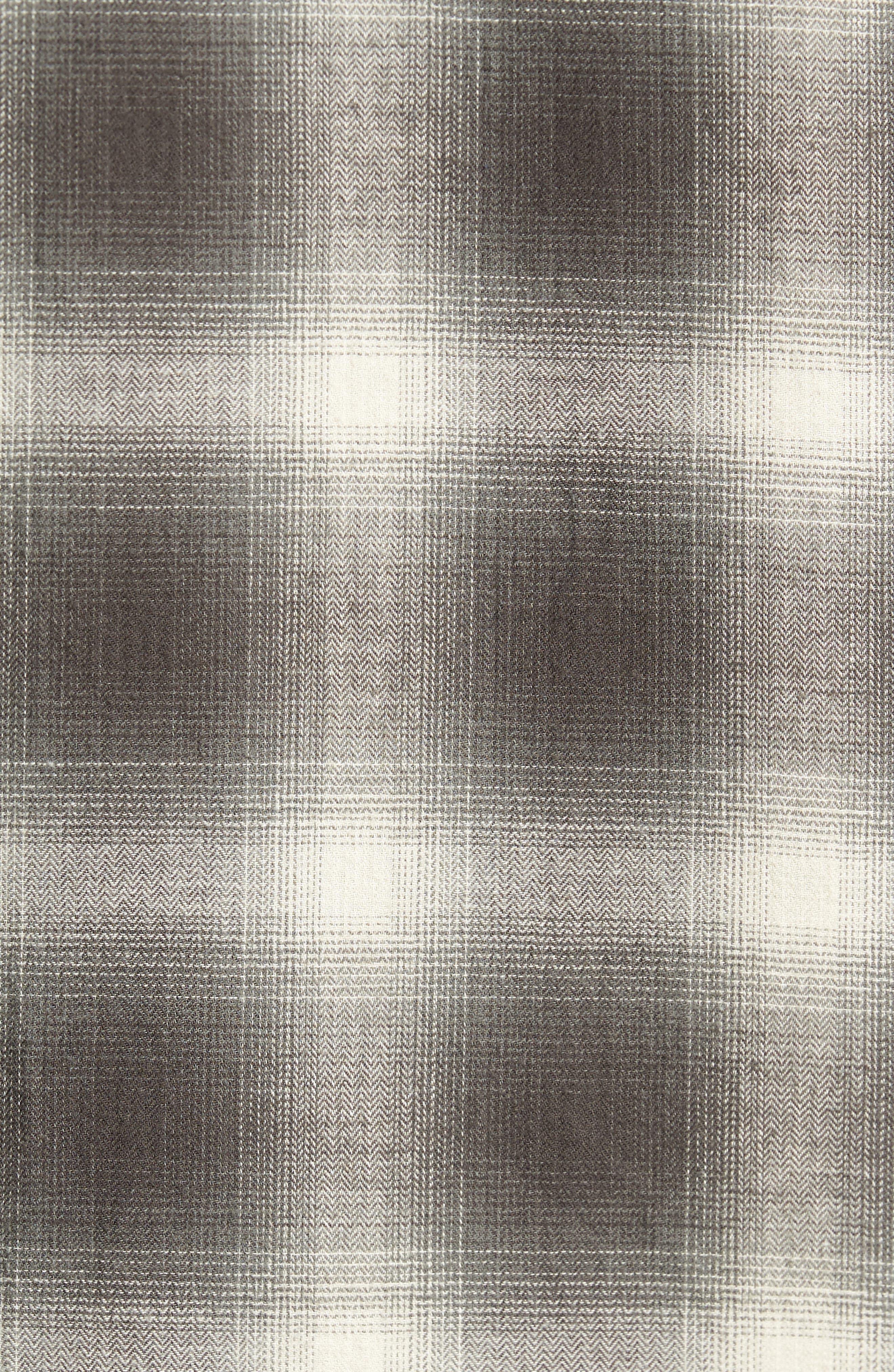 Shadow Plaid Sport Shirt,                             Alternate thumbnail 6, color,                             Grey