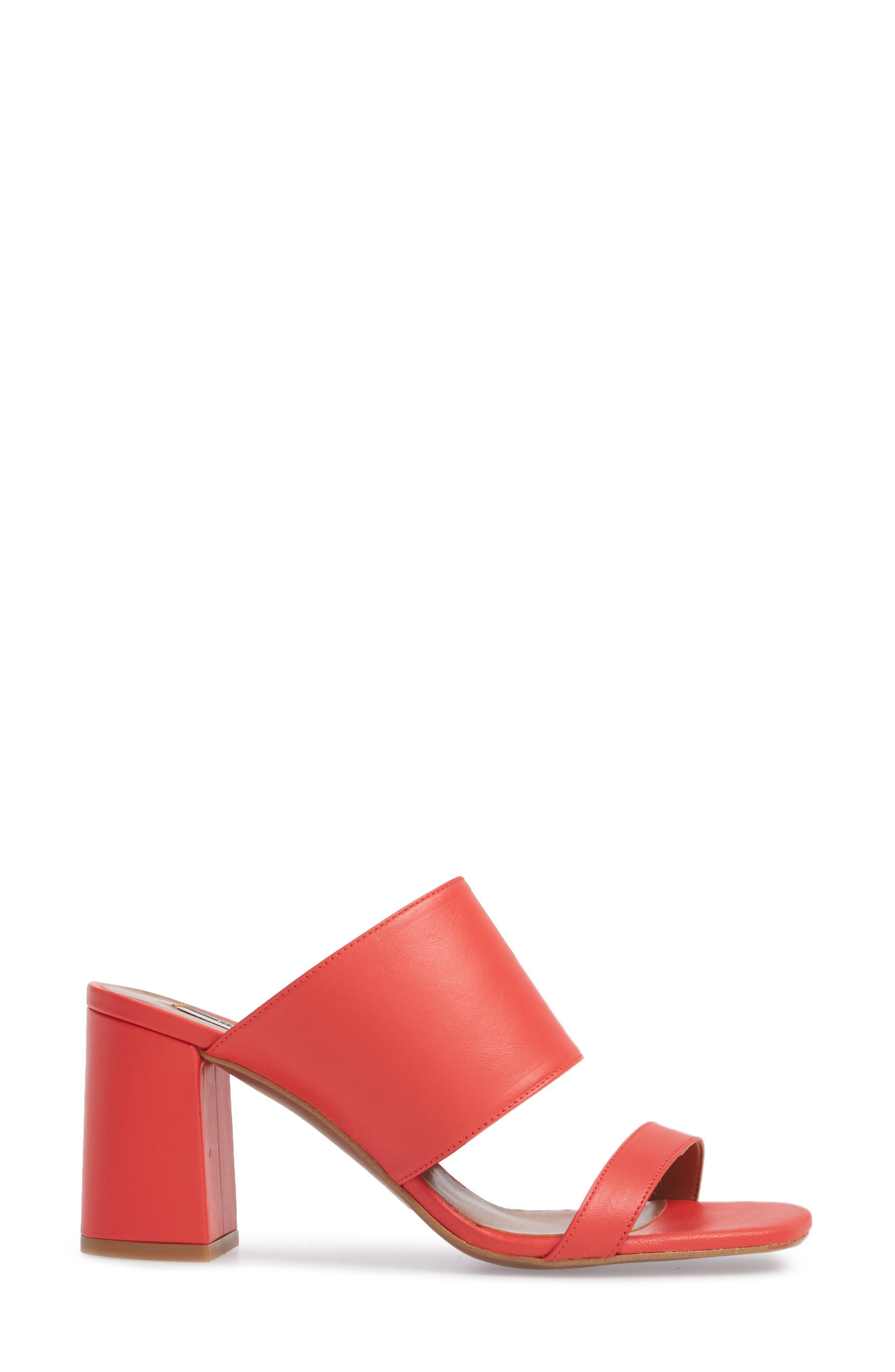Nickle Mule Sandal,                             Alternate thumbnail 3, color,                             Red