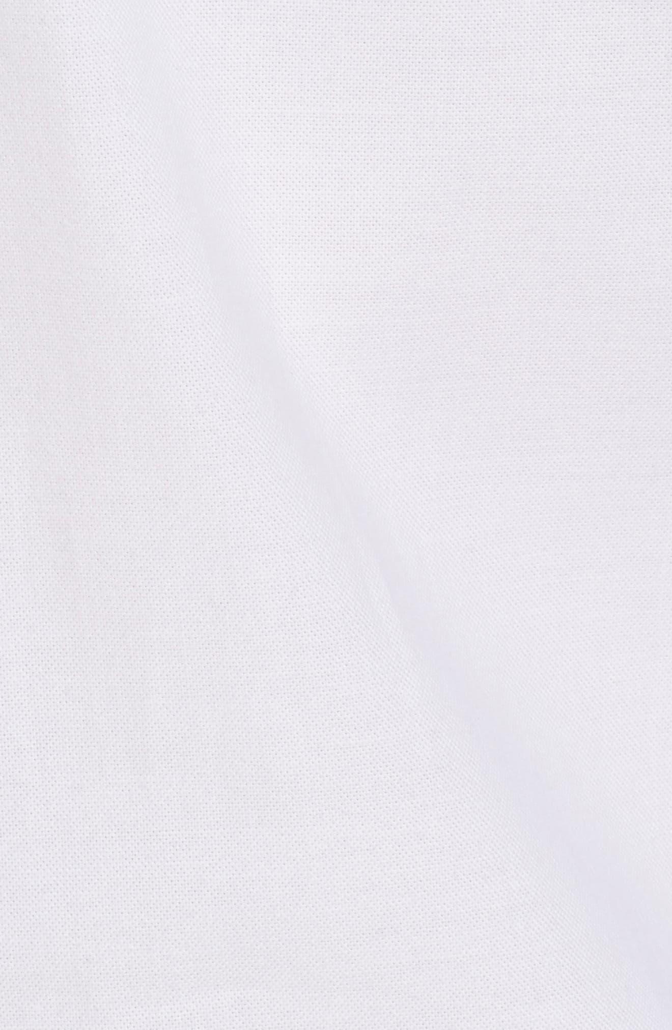 Slim Fit Textured Sport Shirt,                             Alternate thumbnail 5, color,                             White