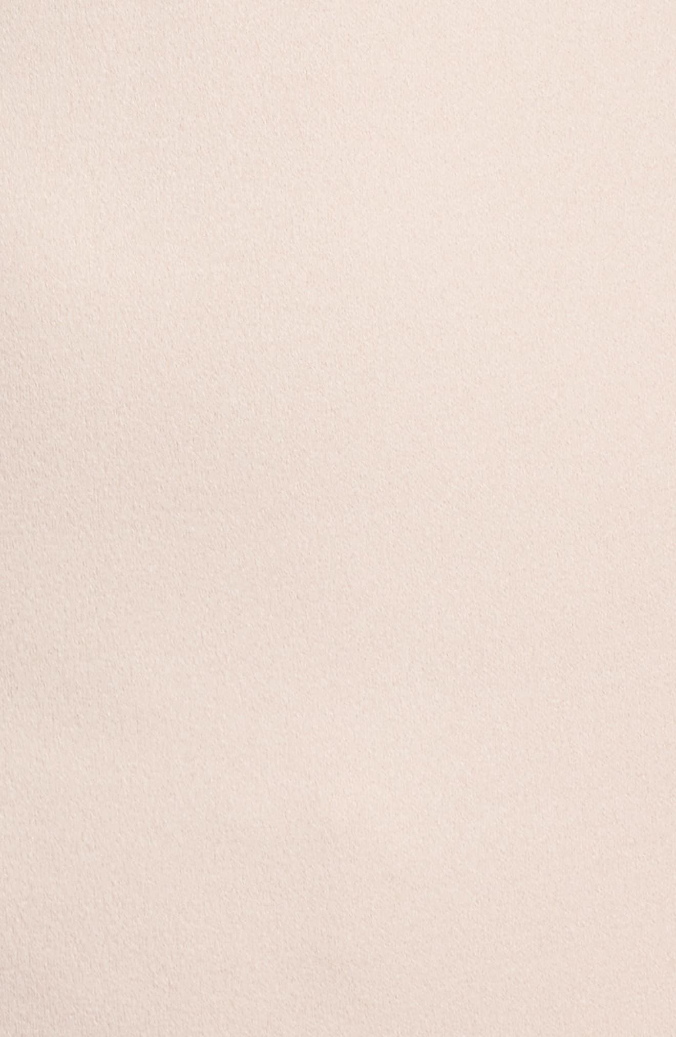 Embellished Crepe Popover Gown,                             Alternate thumbnail 5, color,                             Light Blush