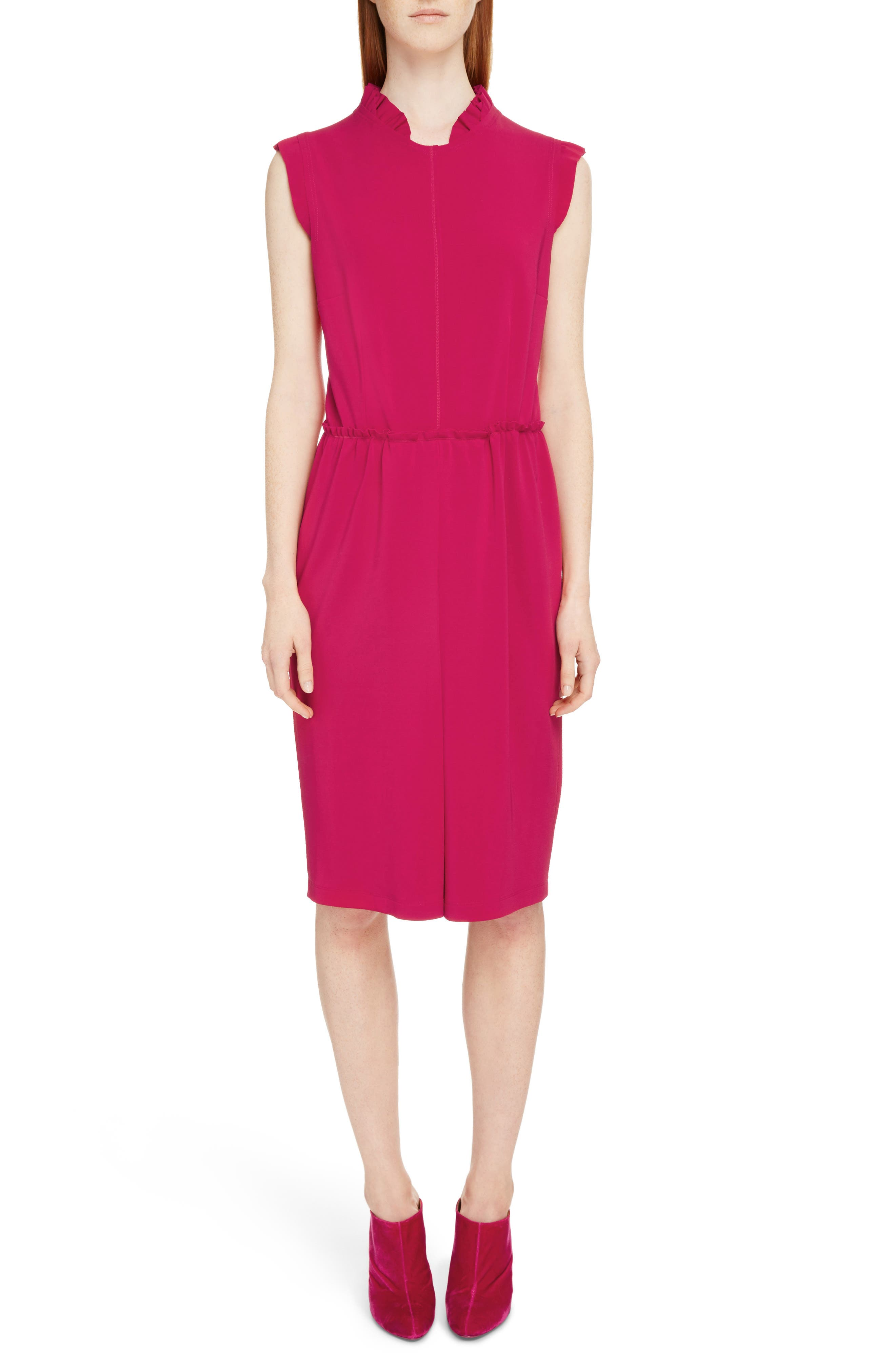Givenchy Ruffle Trim Jersey Dress