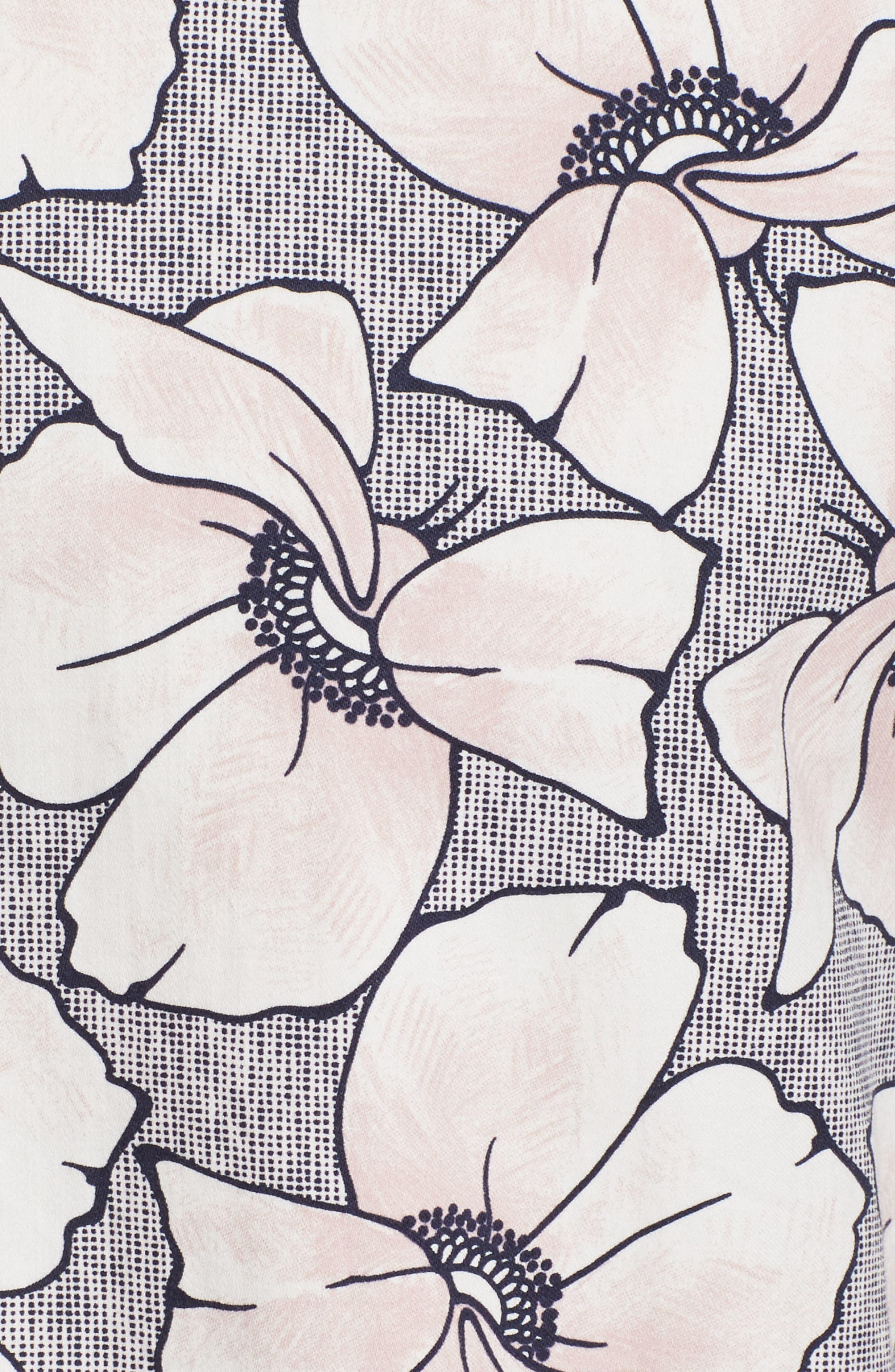 Bigflo Floral Short Sleeve Sport Shirt,                             Alternate thumbnail 5, color,                             Light Pink