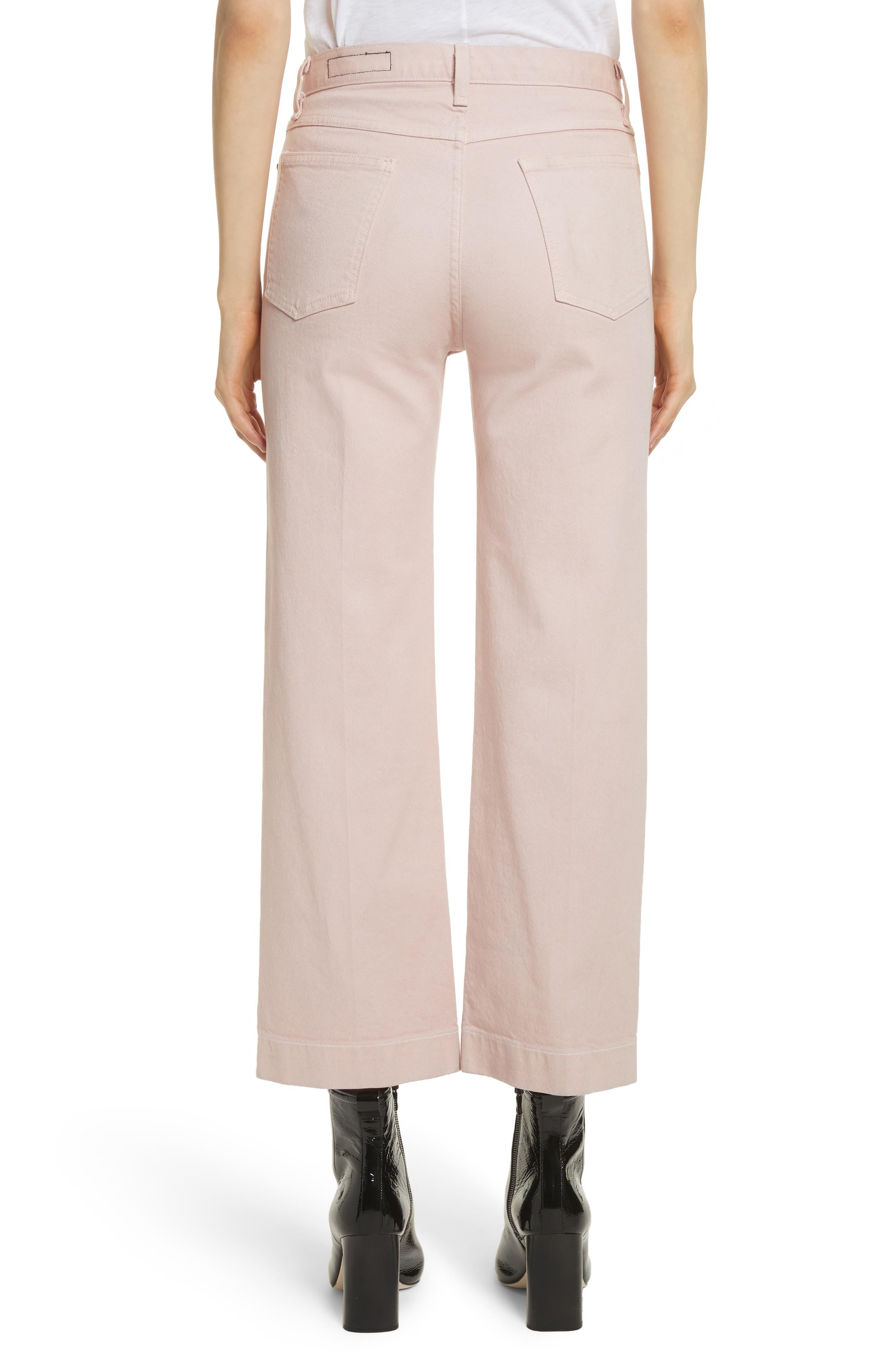 Alternate Image 2  - rag & bone/JEAN Justine High Waist Trouser Jeans (Blush Twill)
