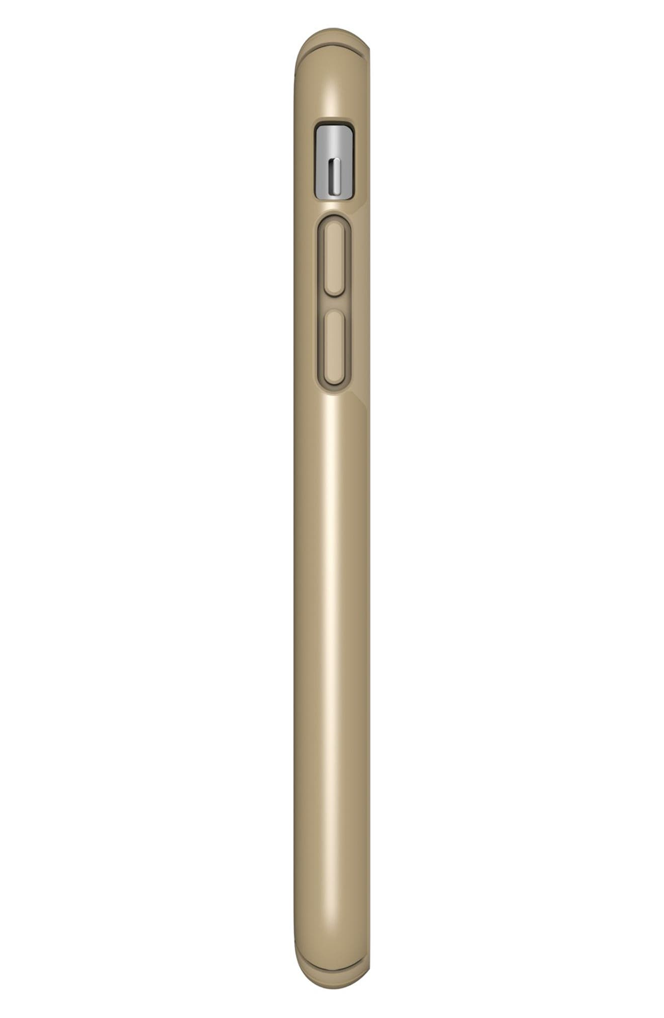 iPhone X Case,                             Alternate thumbnail 5, color,                             Pale Yellow Gold/ Brown