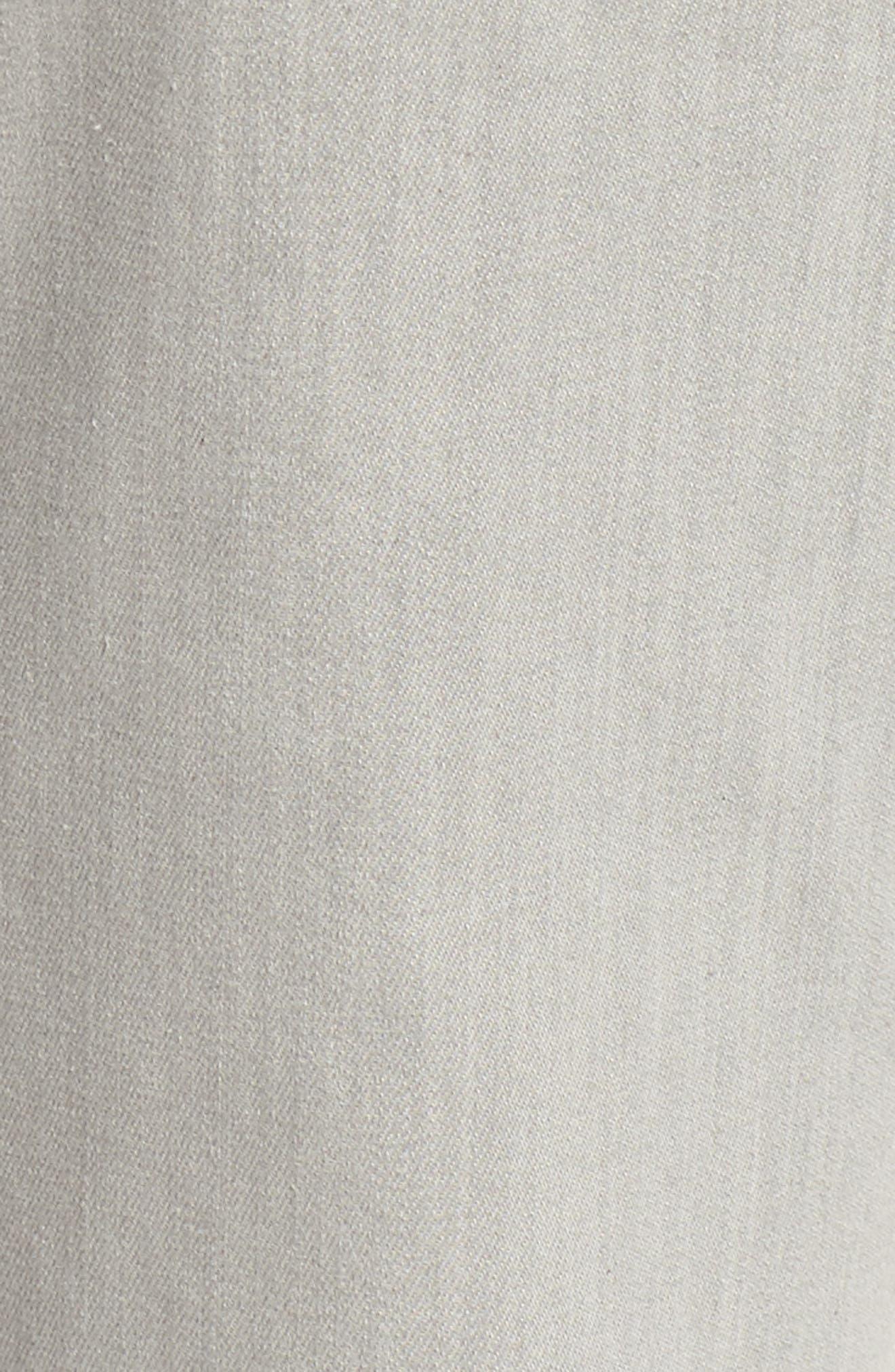 Organic Cotton Blend Crop Flare Jeans,                             Alternate thumbnail 6, color,                             Sun Bleached Gray
