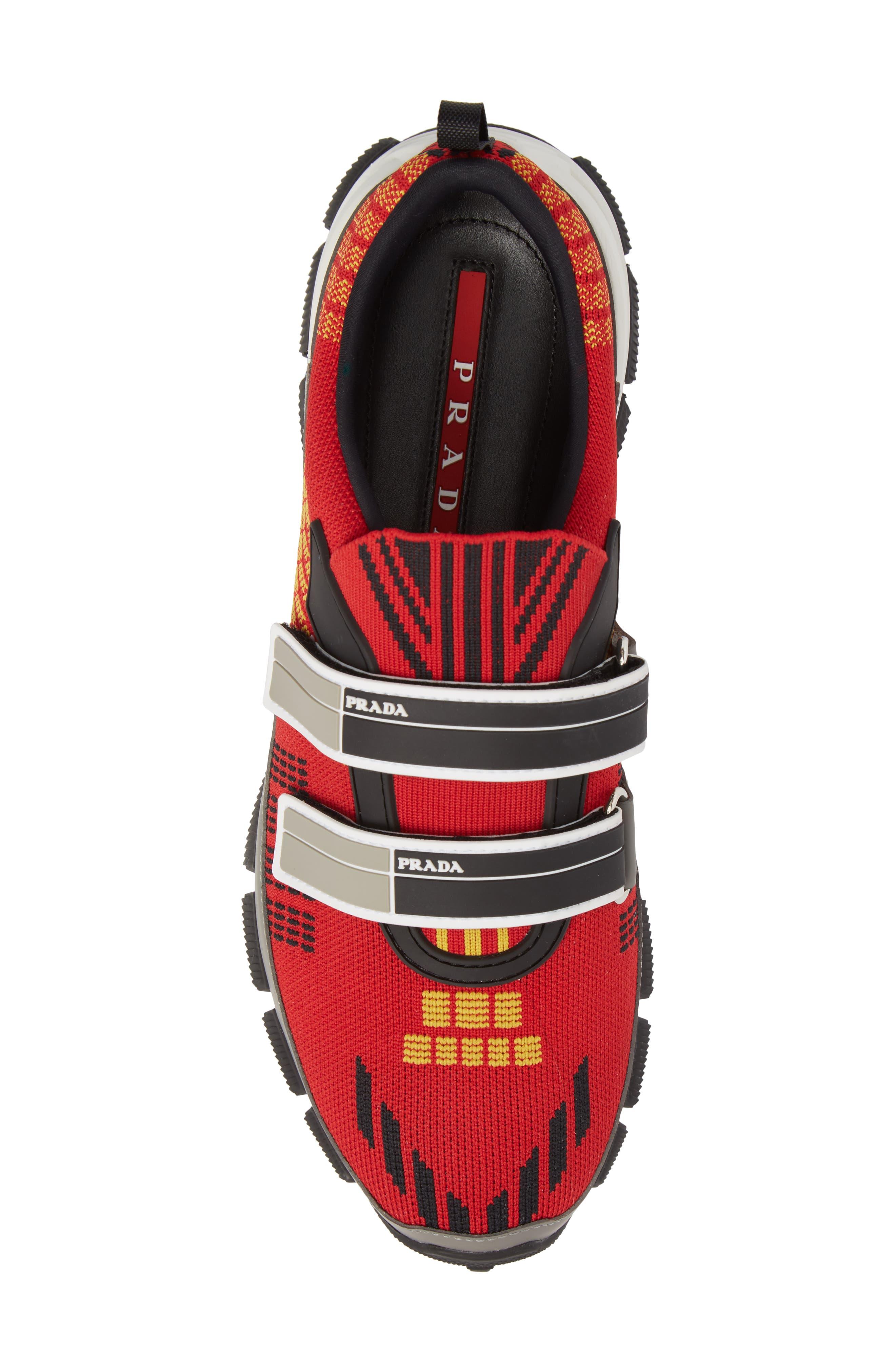 Linea Rossa Strap Sneaker,                             Alternate thumbnail 5, color,                             Scarlatto Red