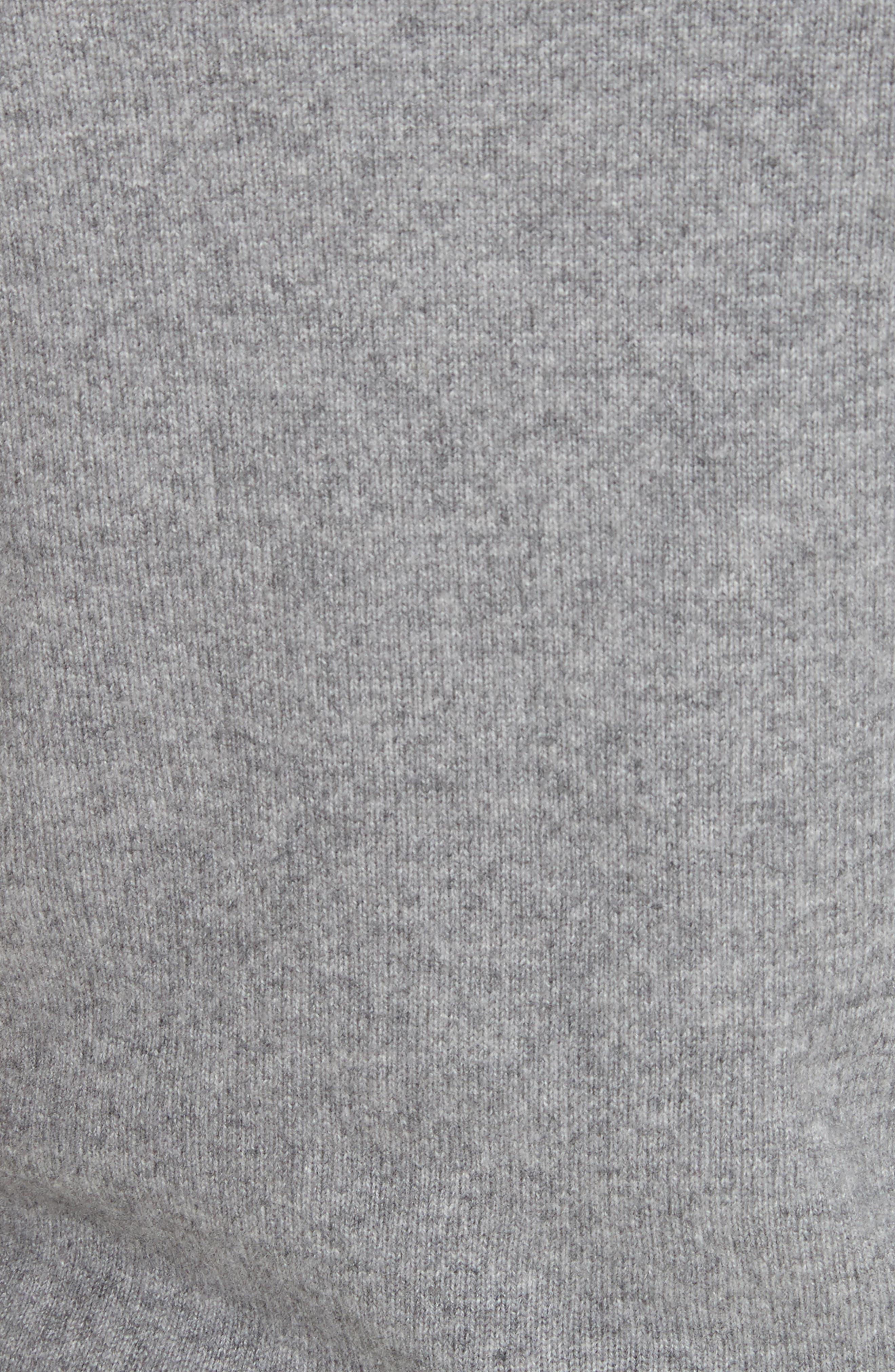 Inverted Tie Waist Wool & Cashmere Blend Sweater,                             Alternate thumbnail 5, color,                             Heather Grey