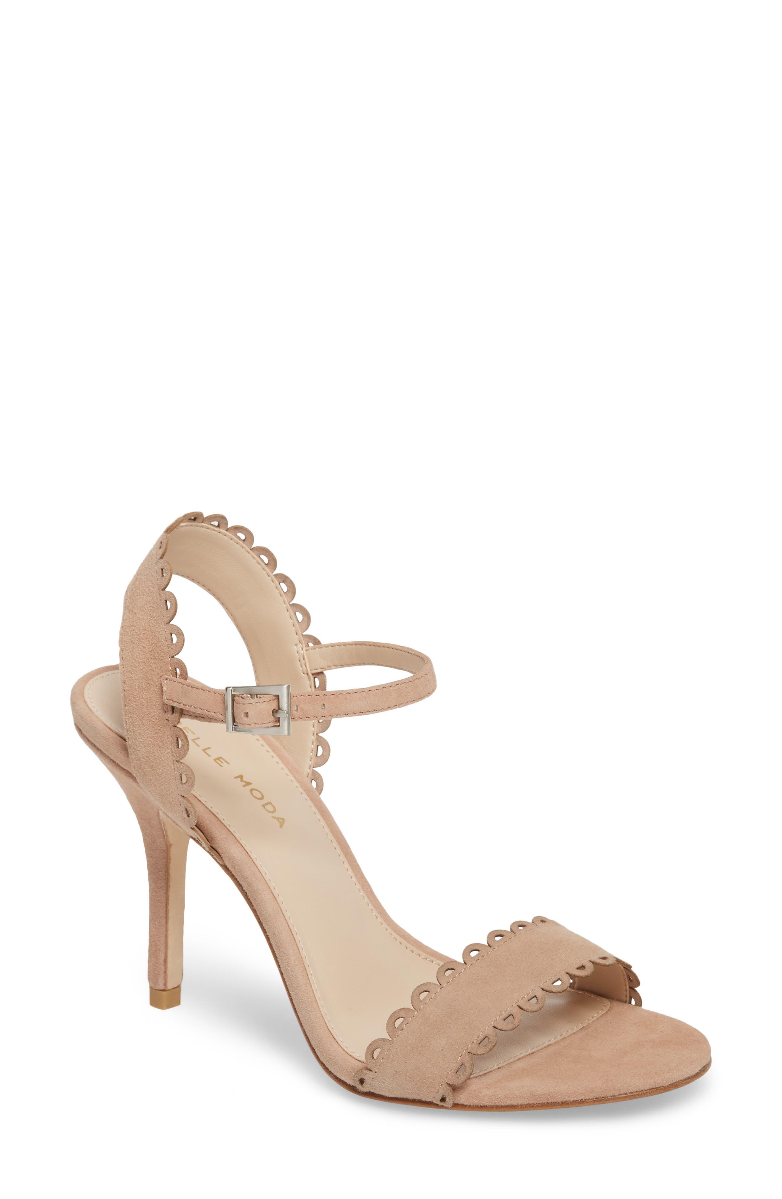 Alternate Image 1 Selected - Pelle Moda Karen Scallop Ankle Strap Sandal (Women)