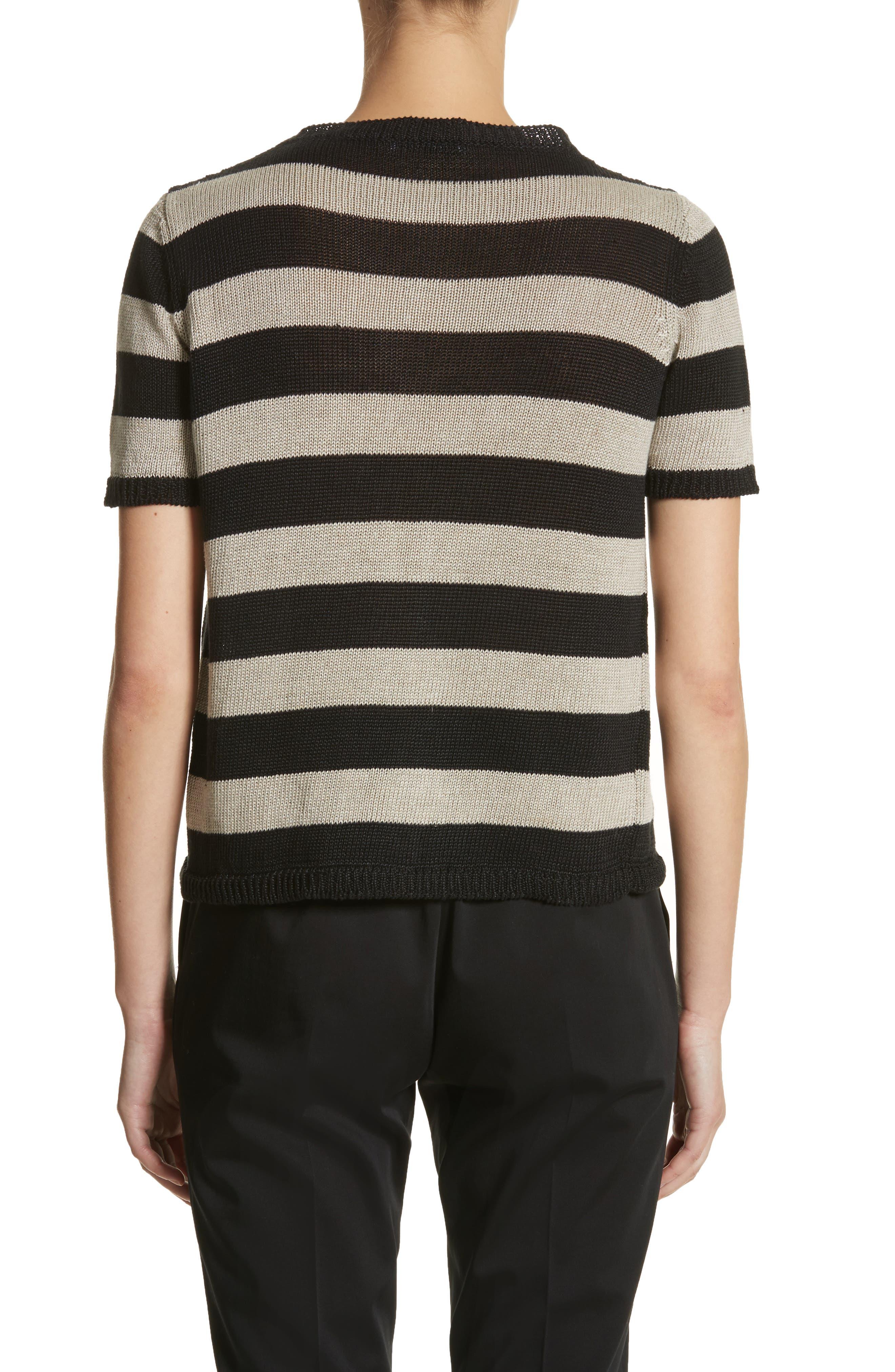 Filly Stripe Linen Sweater,                             Alternate thumbnail 2, color,                             Sand