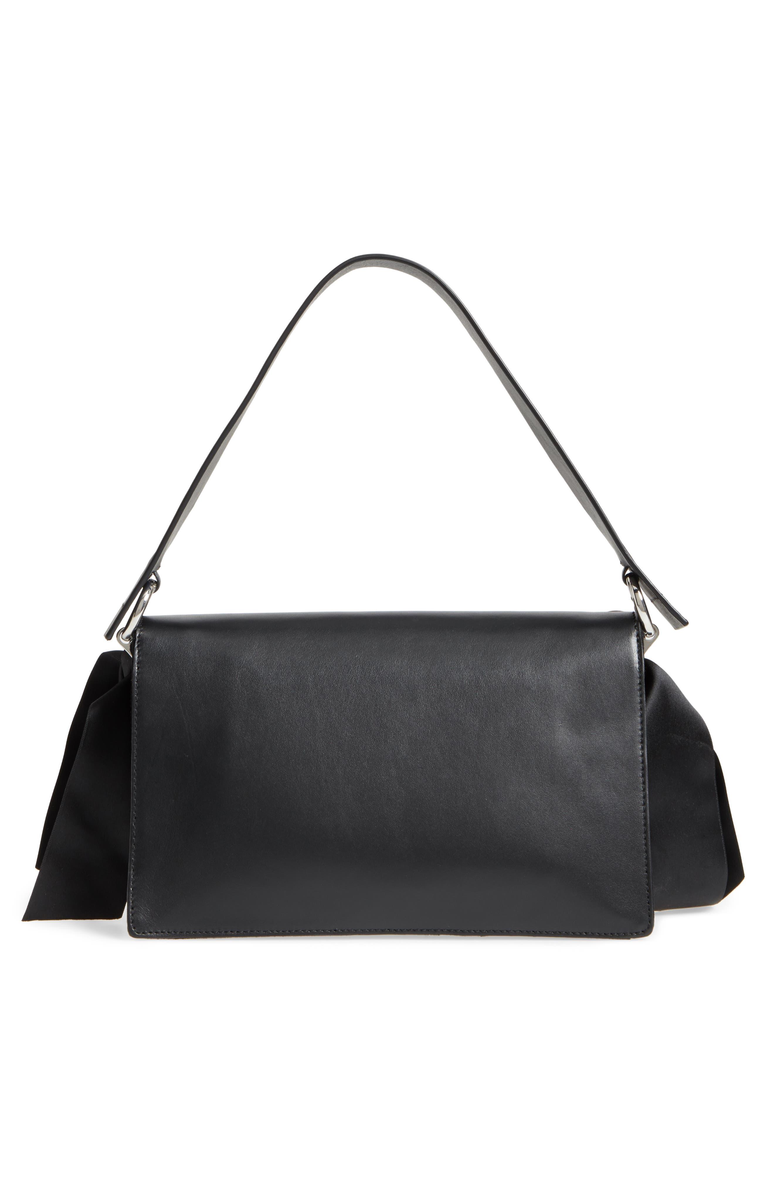 Alternate Image 5  - Topshop Premium Grace Leather Shoulder Bag