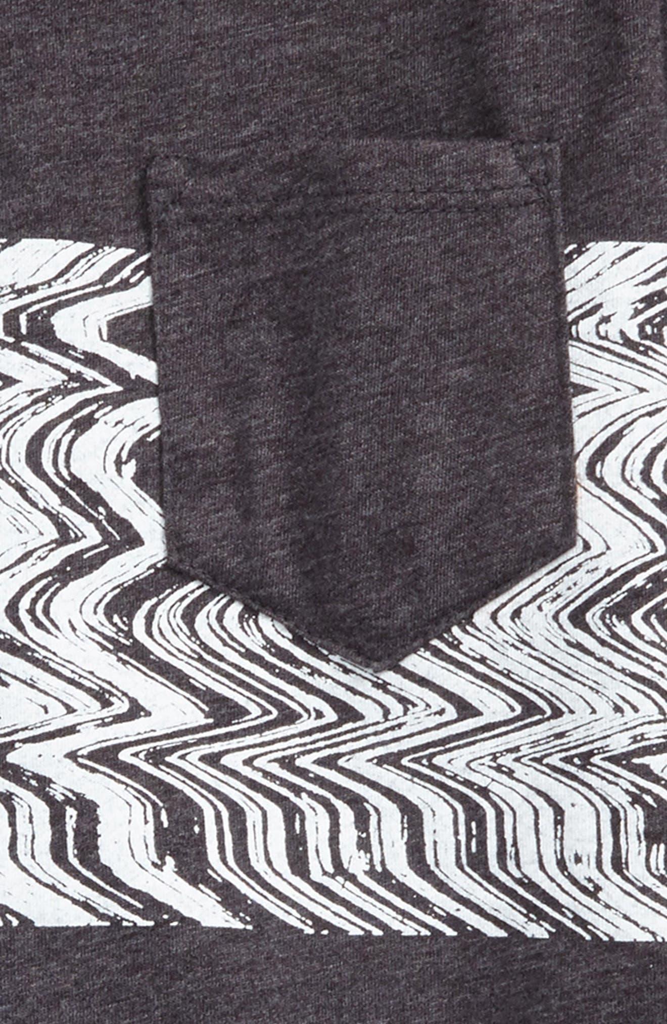 Lo-Fi Colorblock Pocket T-Shirt,                             Alternate thumbnail 2, color,                             Heather Black