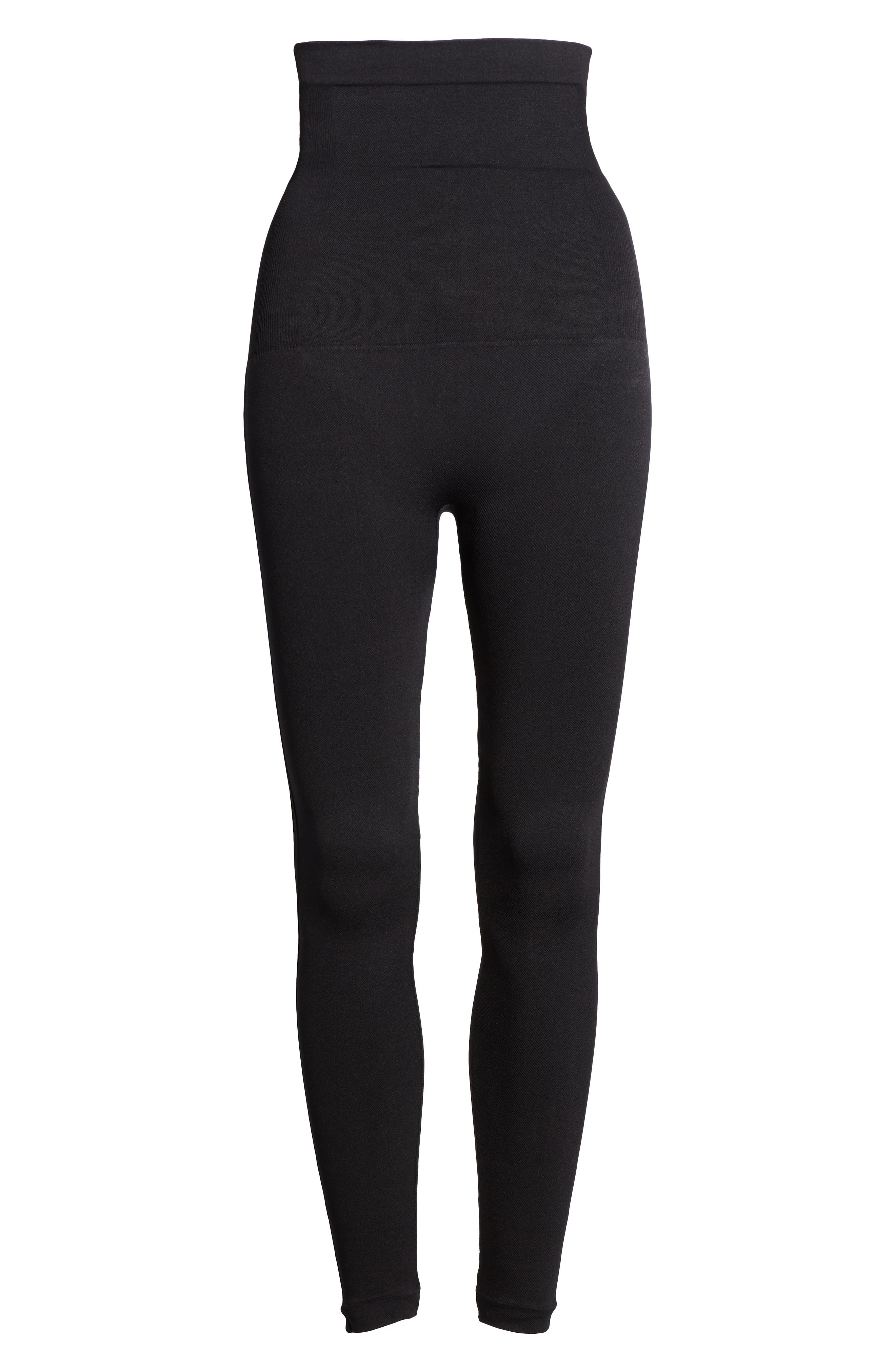 Look At Me Now High Waist Seamless Leggings,                             Alternate thumbnail 6, color,                             Very Black
