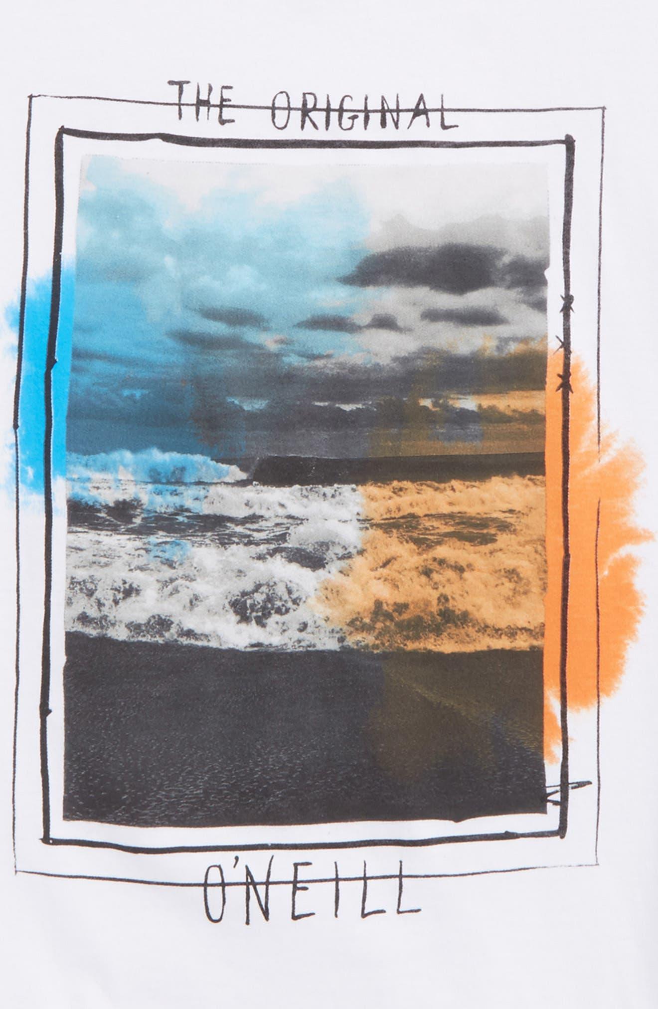 Tide Graphic T-Shirt,                             Alternate thumbnail 2, color,                             White