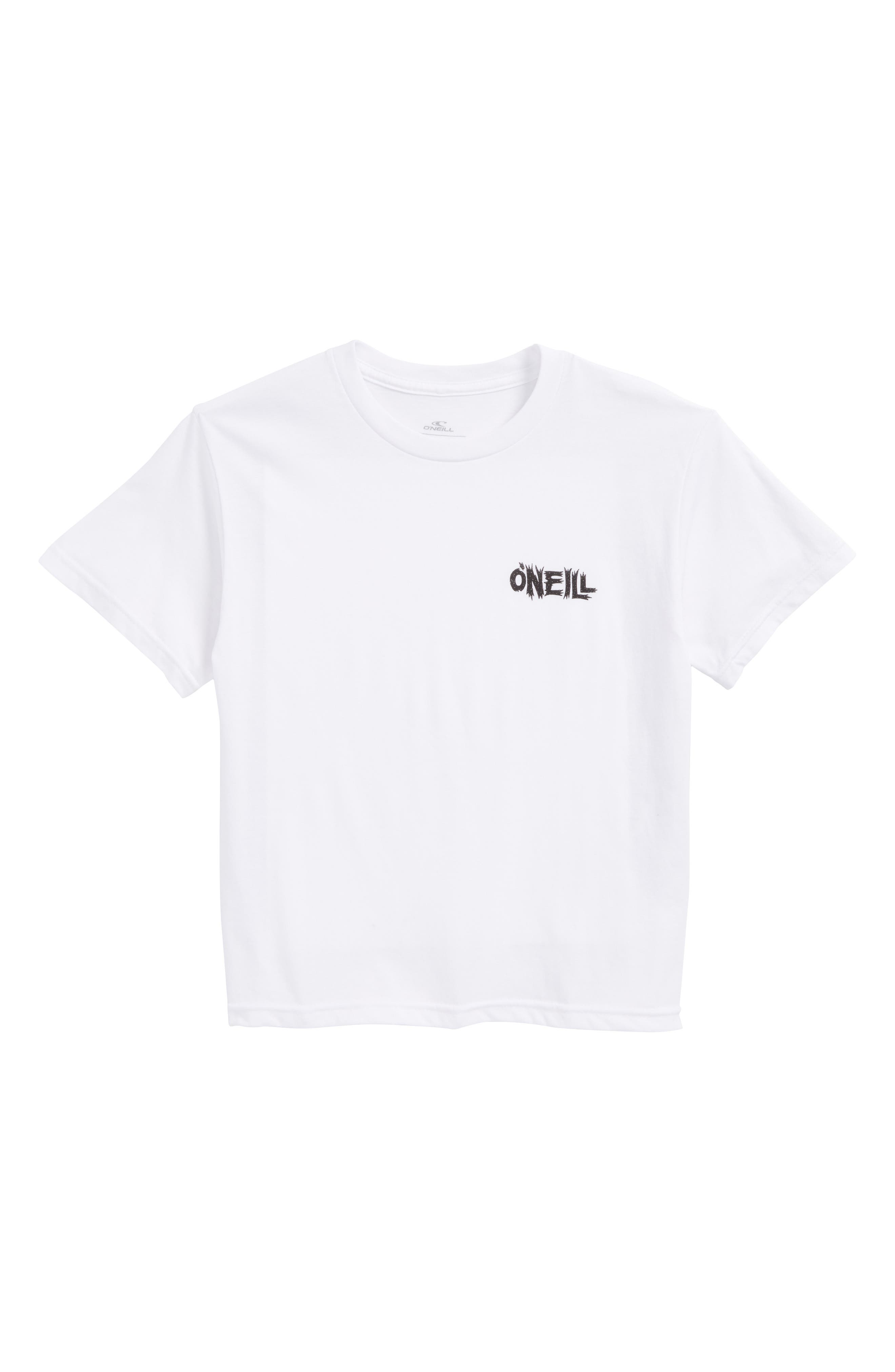 Enemy Logo Graphic T-Shirt,                             Main thumbnail 1, color,                             White