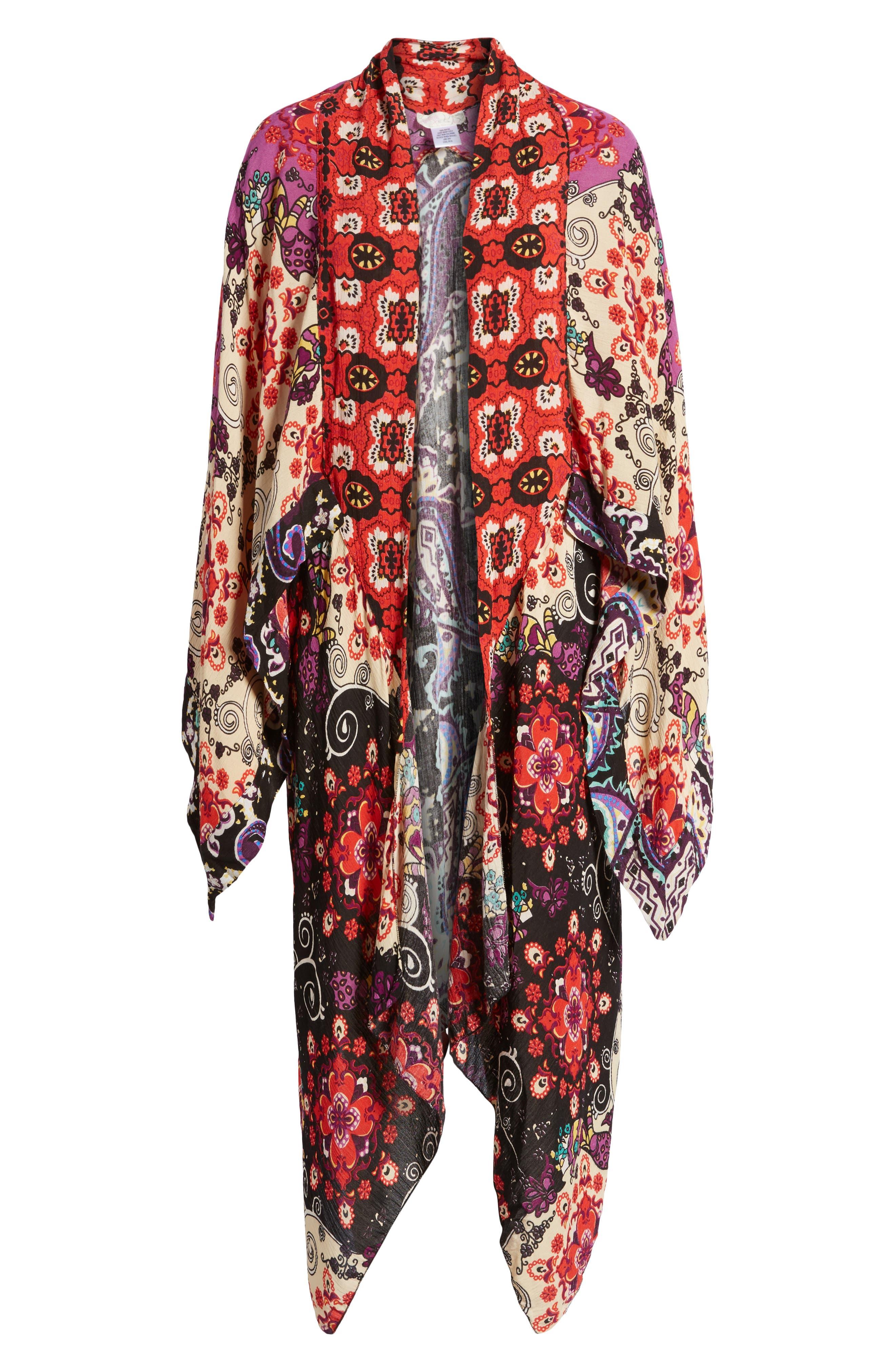 Little Wing Kimono,                             Alternate thumbnail 6, color,                             Plum Combo