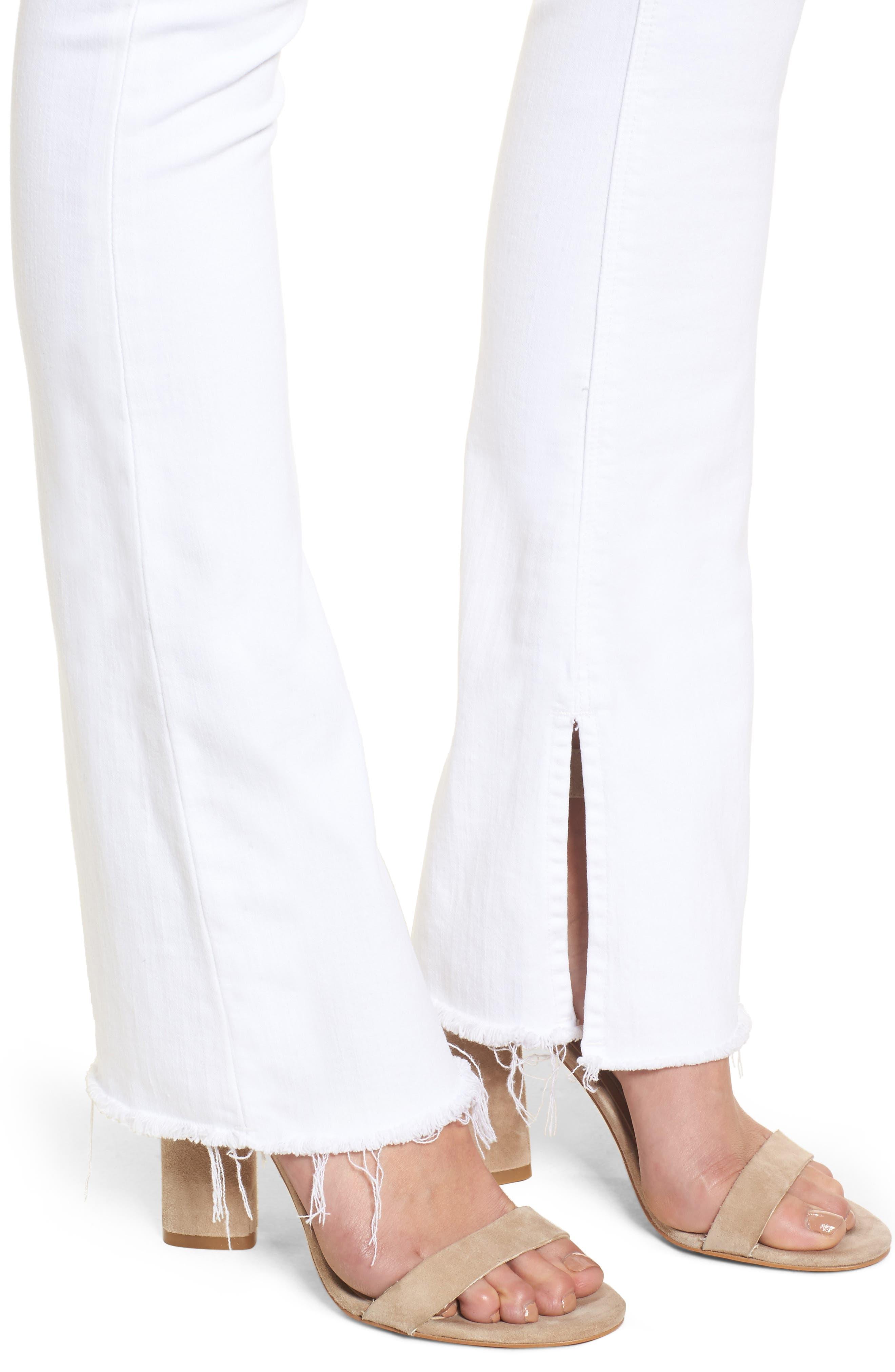 Alternate Image 4  - Hudson Jeans Heartbreaker High Waist Bootcut Jeans (Optical White)