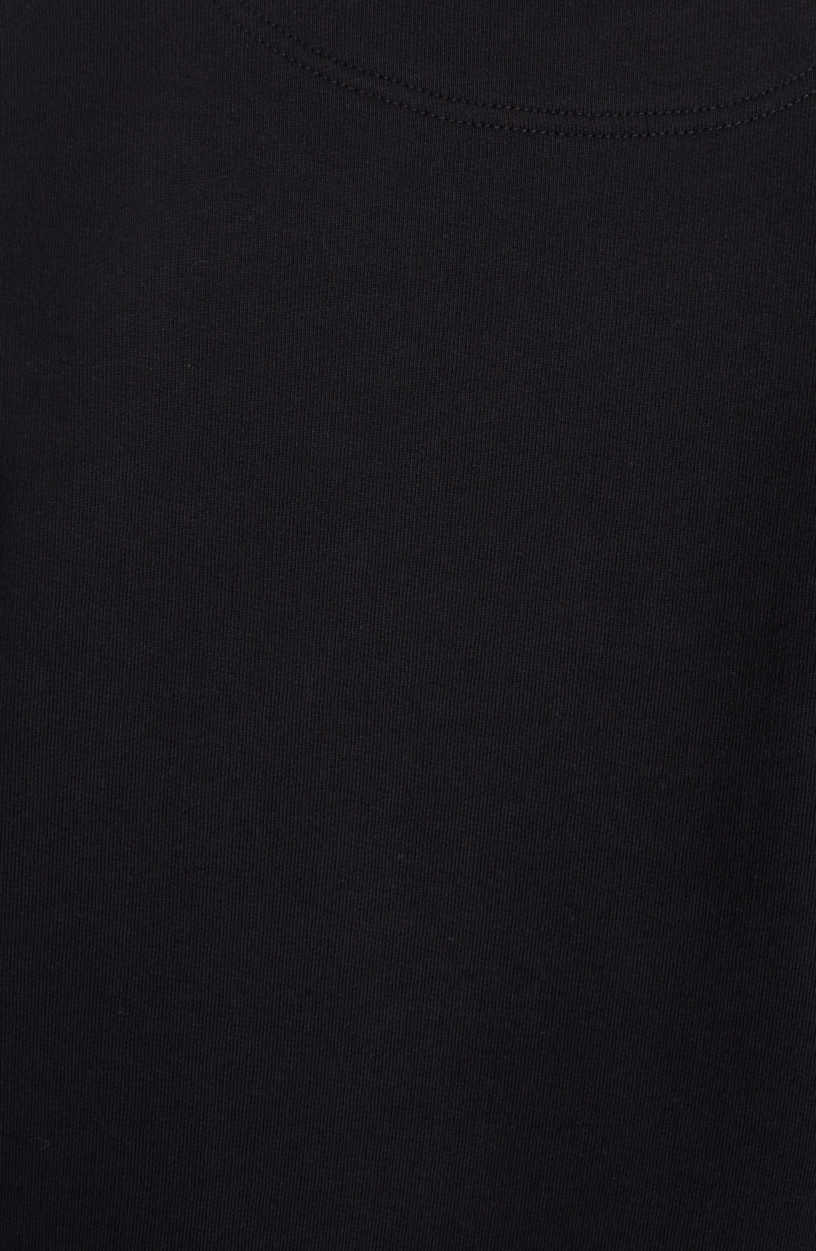 Embroidered Eye Sweatshirt,                             Alternate thumbnail 5, color,                             Black