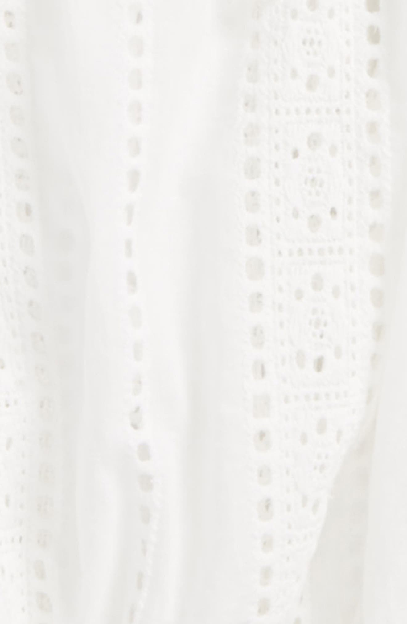 Broderie Anglaise Bell Sleeve Top,                             Alternate thumbnail 2, color,                             Ivory