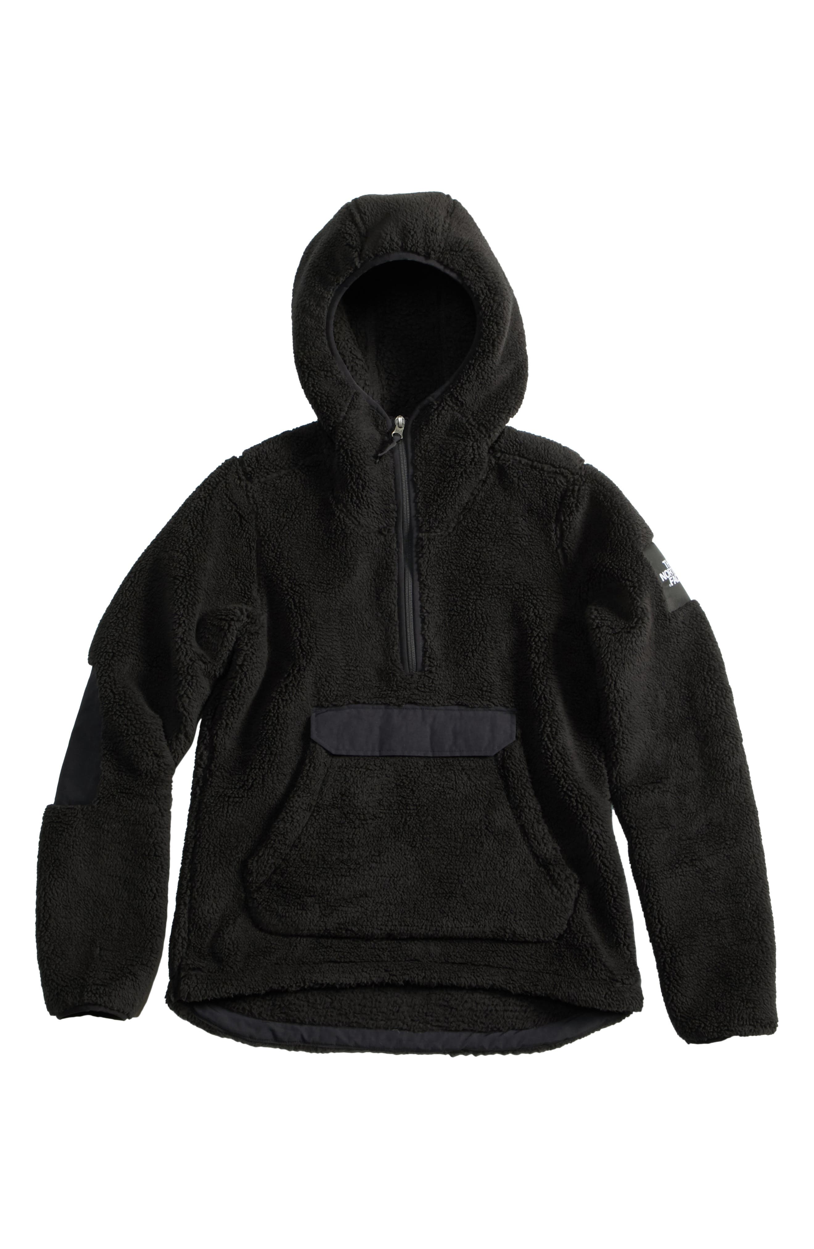 Campshire High Pile Fleece Pullover Hoodie,                             Main thumbnail 1, color,                             Tnf Black