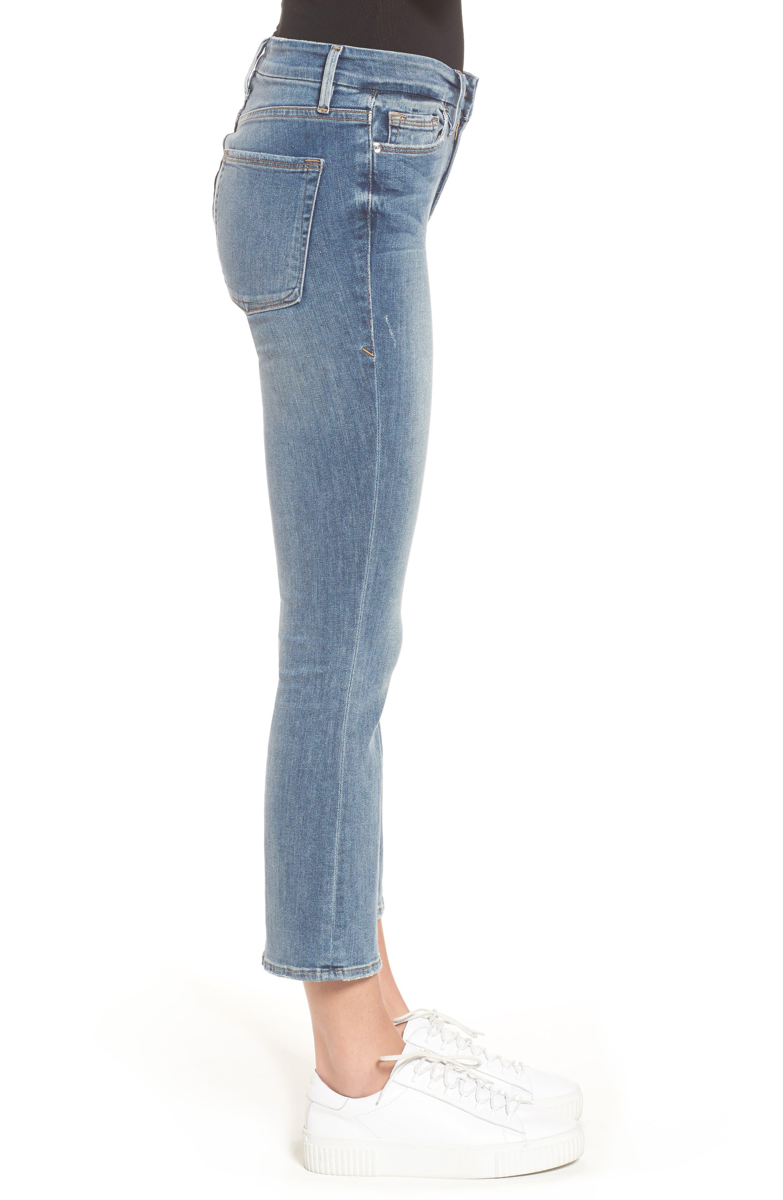 Good Cuts High Rise Boyfriend Jeans,                             Alternate thumbnail 3, color,                             Blue 012