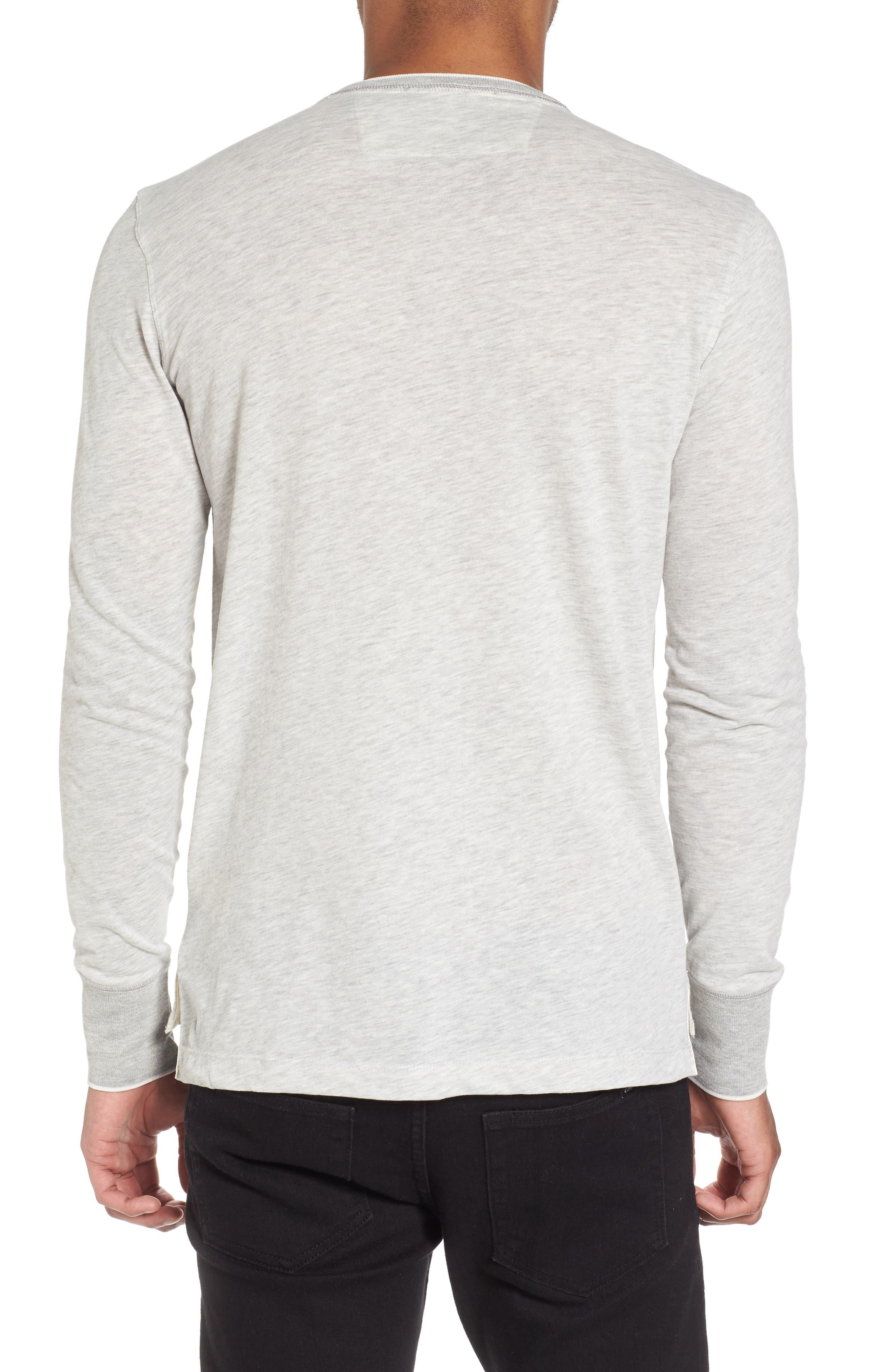 Club Nomade Soft Granddad T-Shirt,                             Alternate thumbnail 2, color,                             Grey Melange